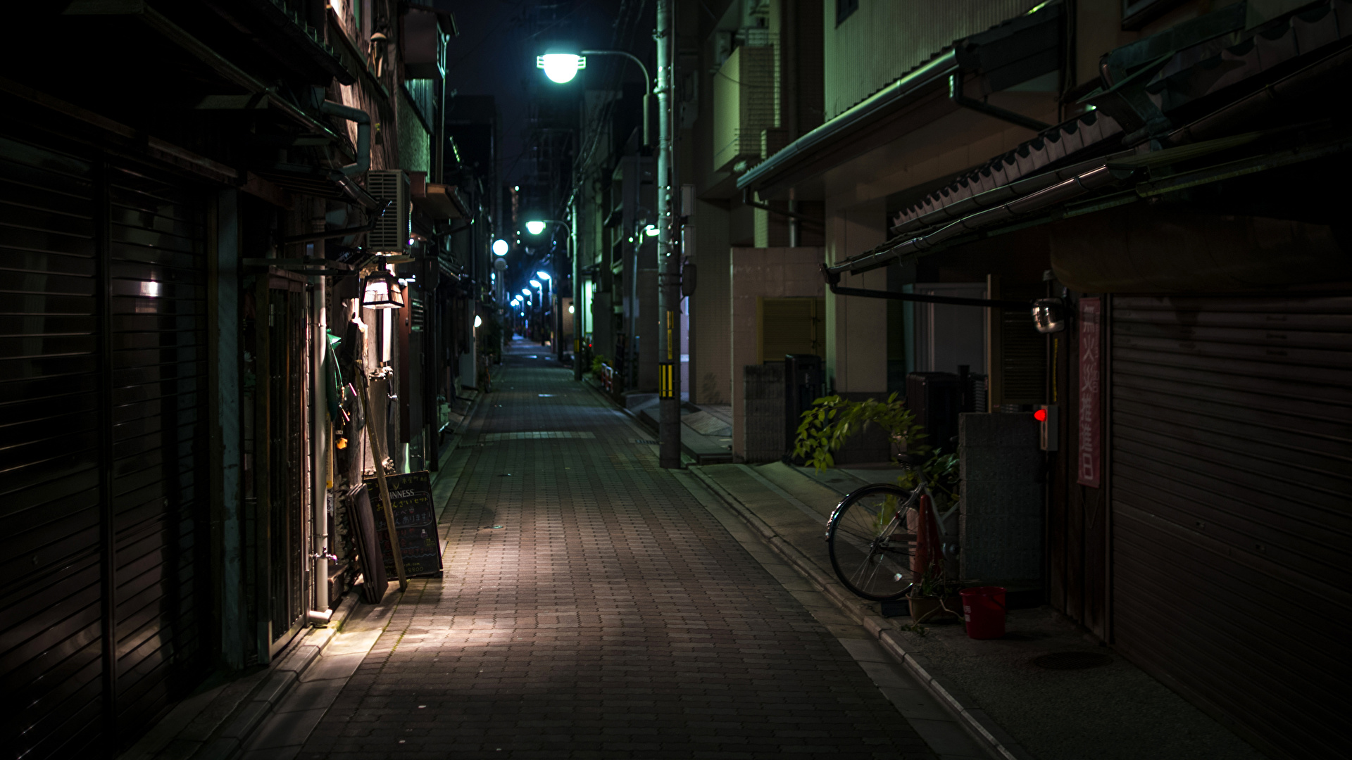 Обои Япония, ночь. Города foto 19