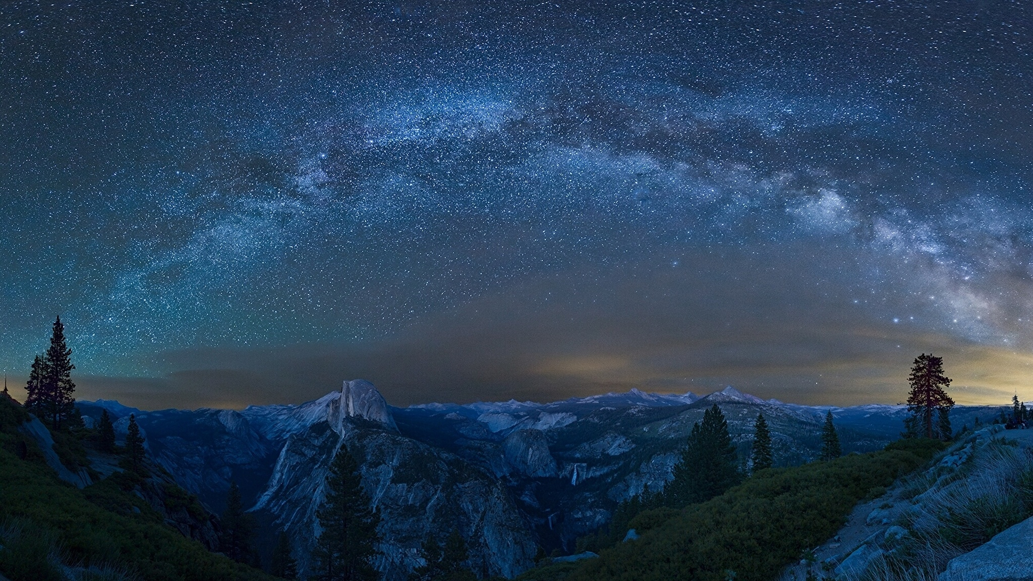 горы высота небо звезды бесплатно