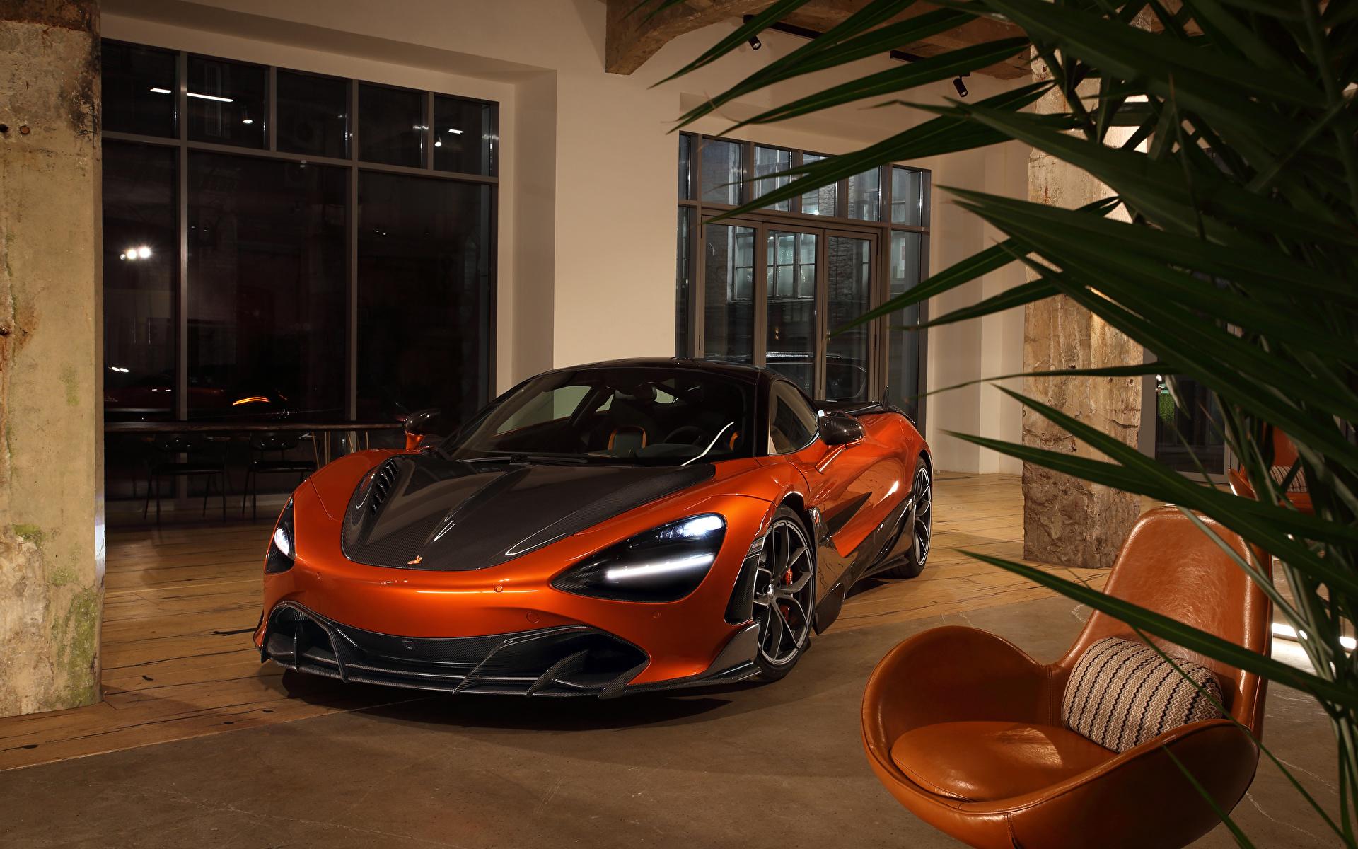 Фото McLaren 2020-21 TopCar 720S Fury оранжевые Металлик автомобиль 1920x1200 Макларен оранжевая Оранжевый оранжевых авто машины машина Автомобили