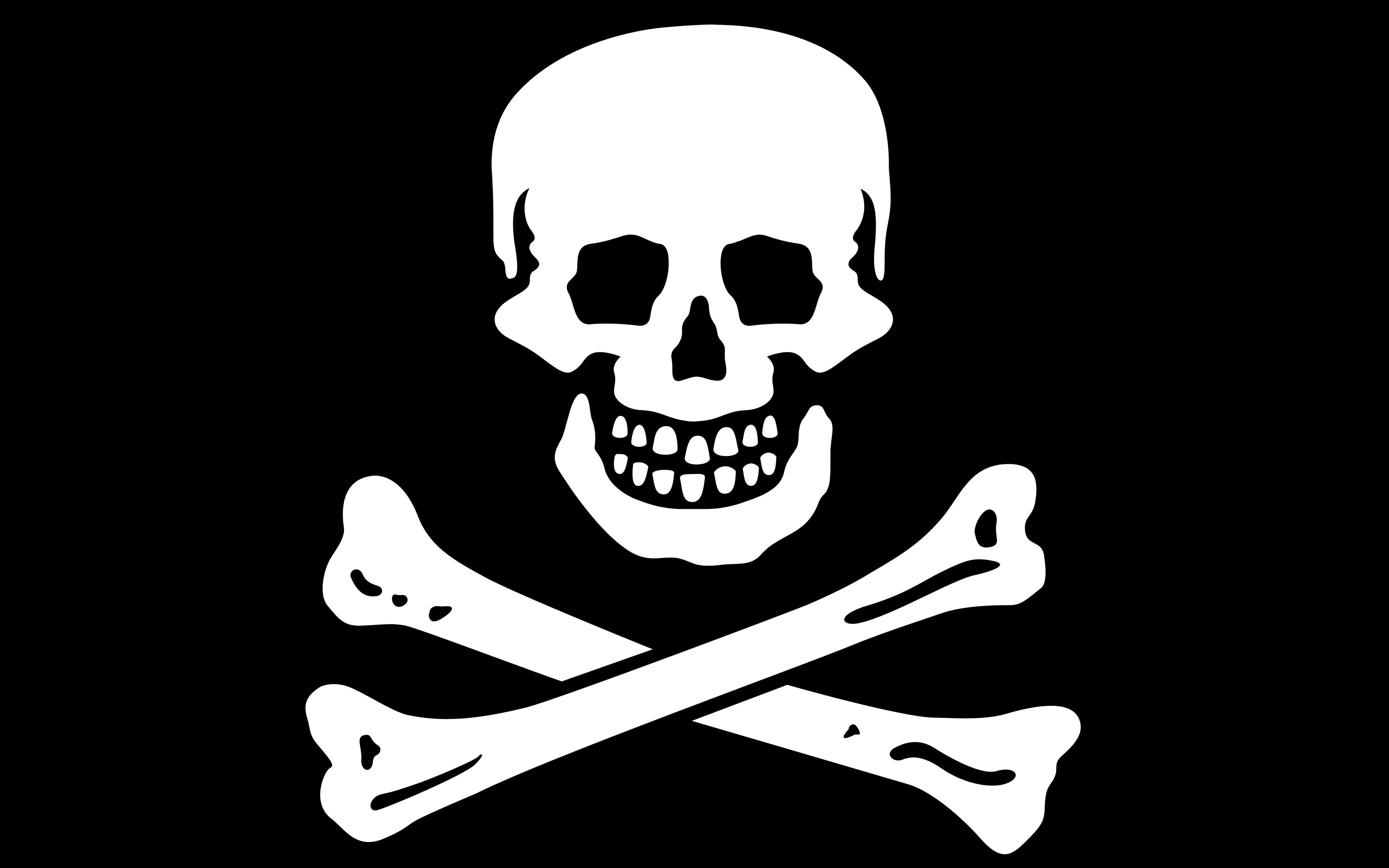 пиратчкий флаг череп piratski flag skull скачать
