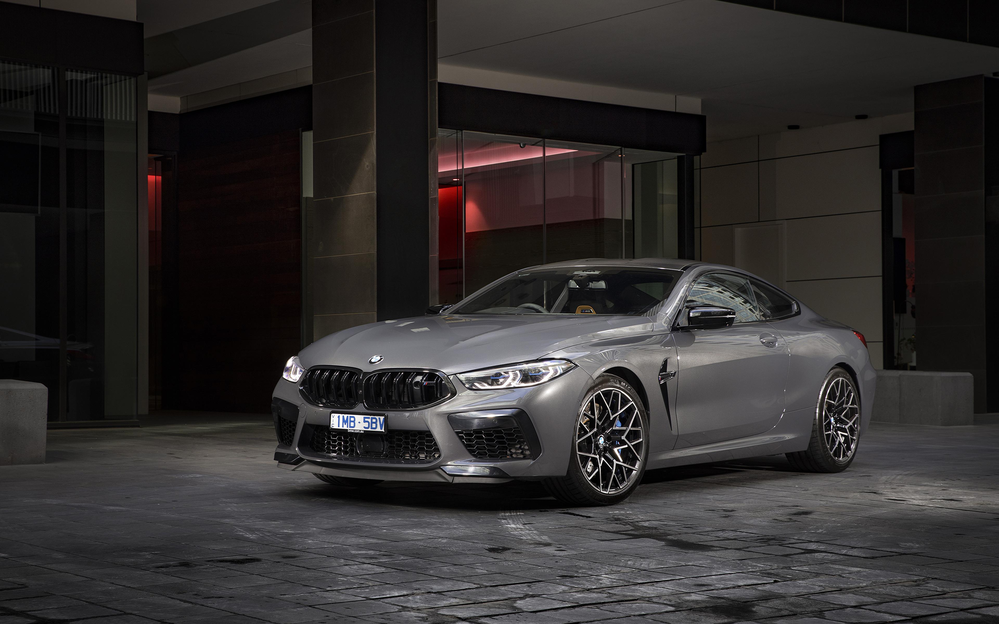 Обои для рабочего стола BMW 2020 M8 Competition Coupé Купе серая авто 3840x2400 БМВ Серый серые машина машины Автомобили автомобиль