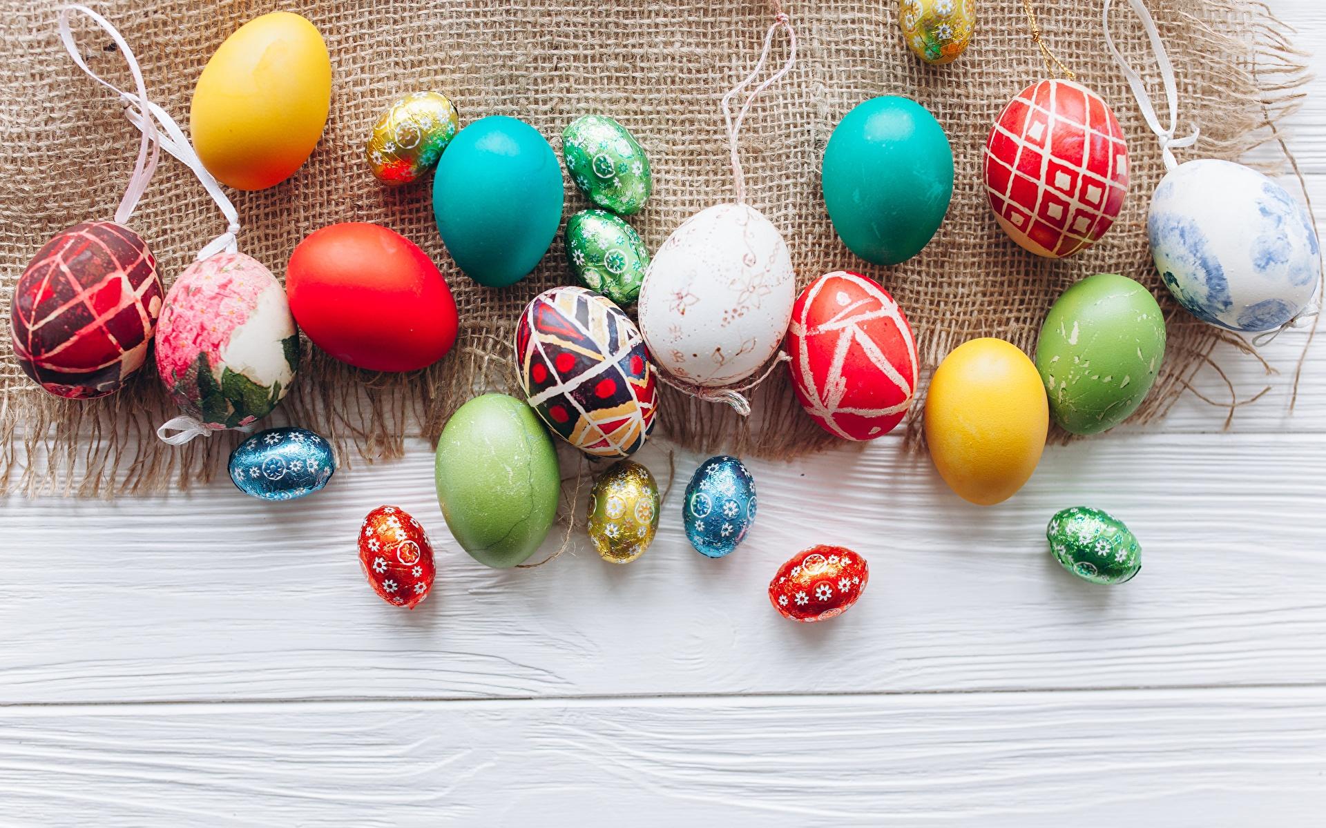 Фотография Пасха Разноцветные яйцо 1920x1200 яиц Яйца яйцами