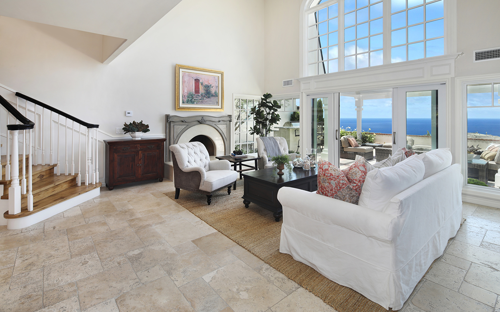 Фото гостевая Интерьер Диван Кресло Дизайн 1920x1200 Гостиная диване дизайна