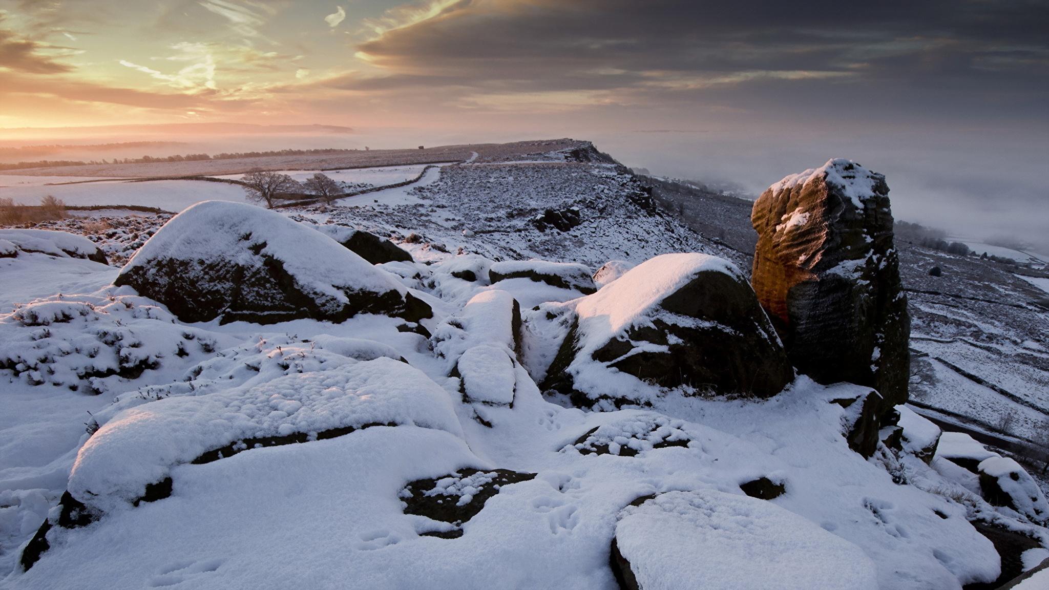 снег камни гора snow stones mountain скачать