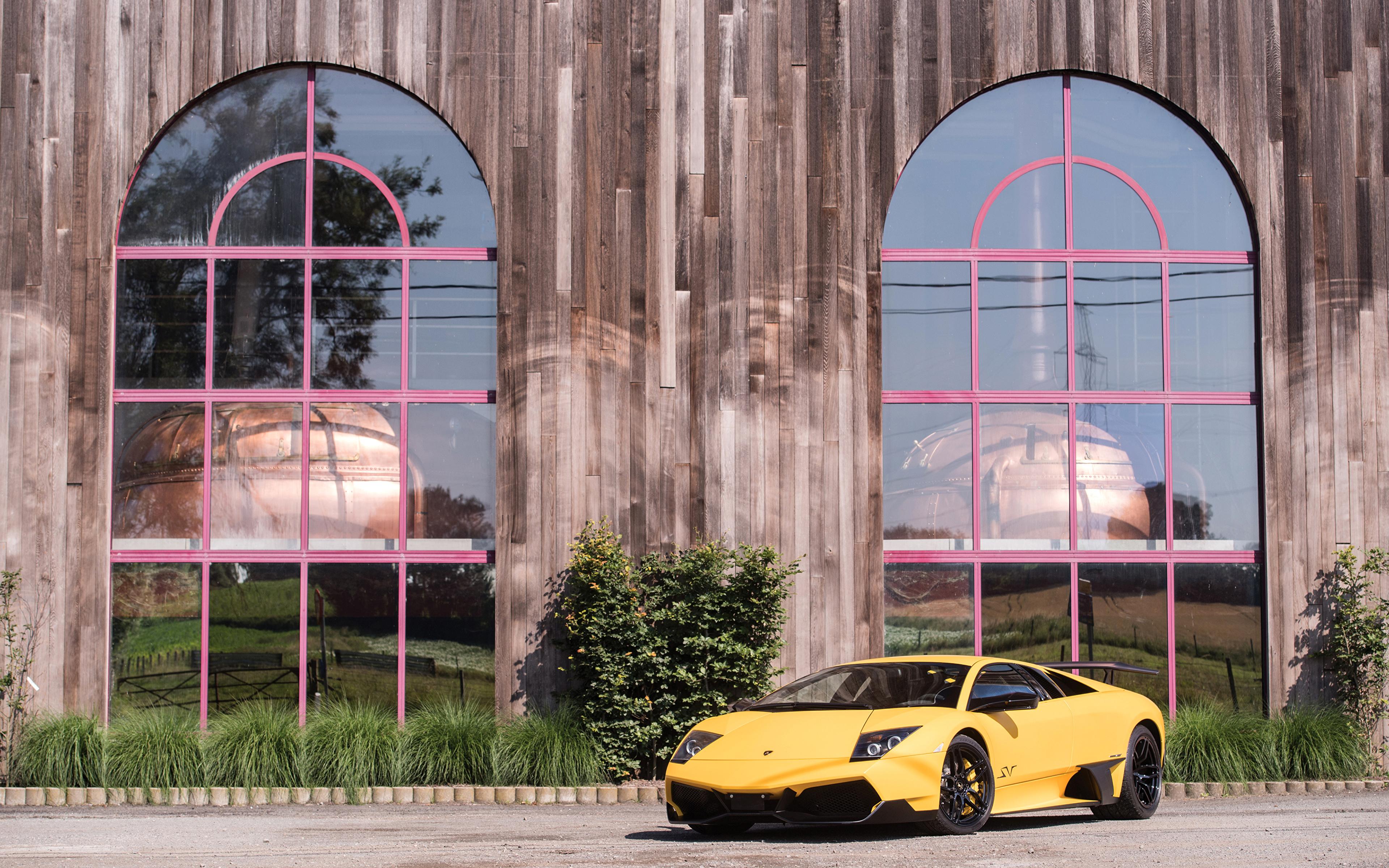 Картинки 2009-10 Lamborghini Murciélago LP 670-4 SuperVeloce Worldwide Желтый Автомобили 3840x2400 Ламборгини желтых желтые желтая авто машина машины автомобиль