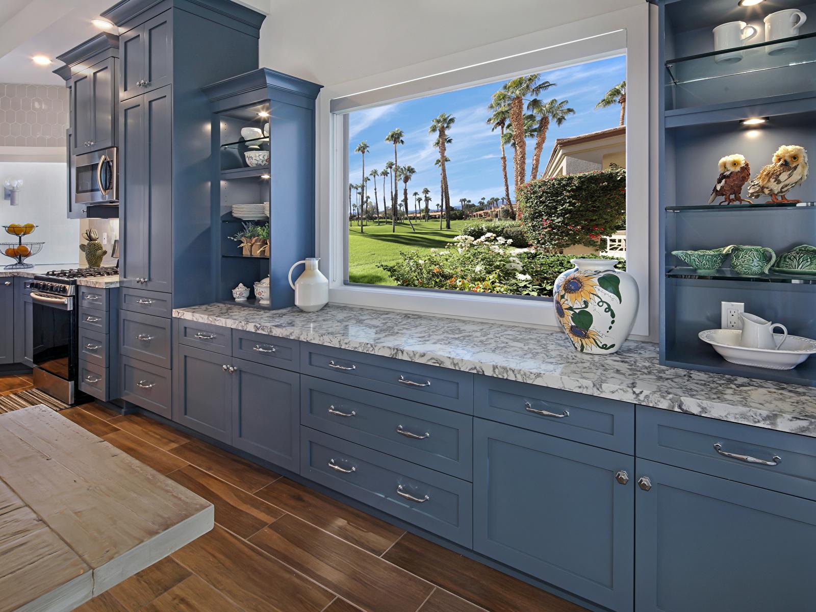 Обои для рабочего стола кухни Интерьер окна Дизайн 1600x1200 Кухня Окно дизайна