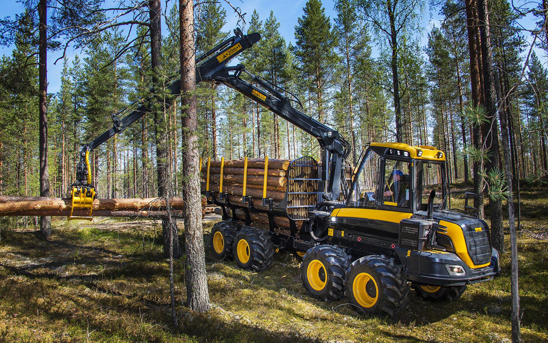 Фотографии Форвардер 2014-17 Ponsse Wisent 8w бревно лес 1920x1200 Бревна Леса