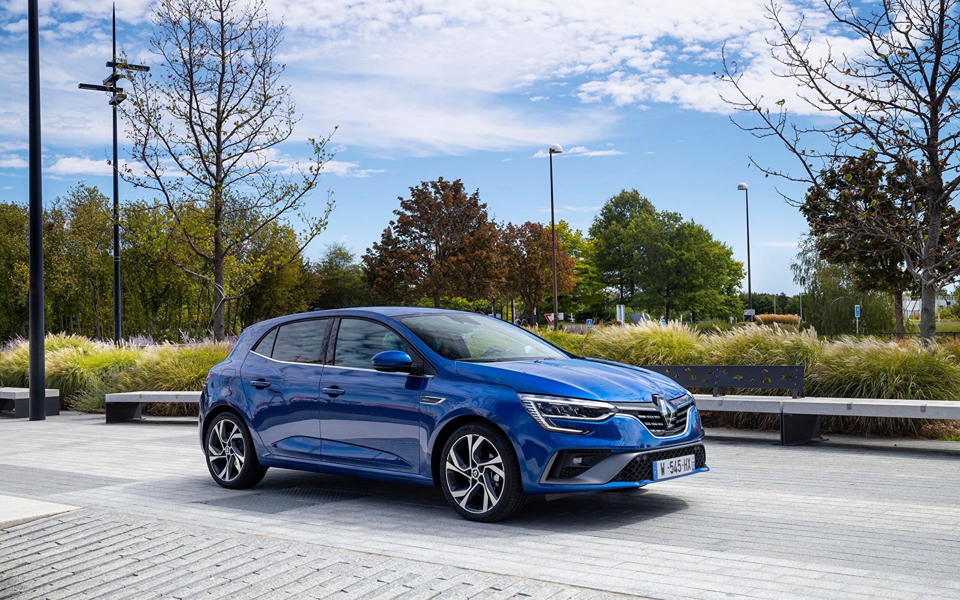 Фотография Renault Megane R.S. Line, 2020 синих Металлик Автомобили 1920x1200 Рено синяя синие Синий авто машины машина автомобиль