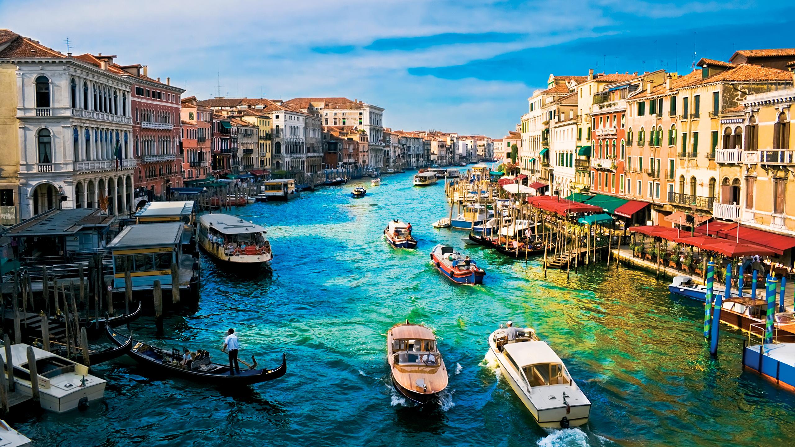 Обои канал, венеция, лодки, дома. Города foto 13