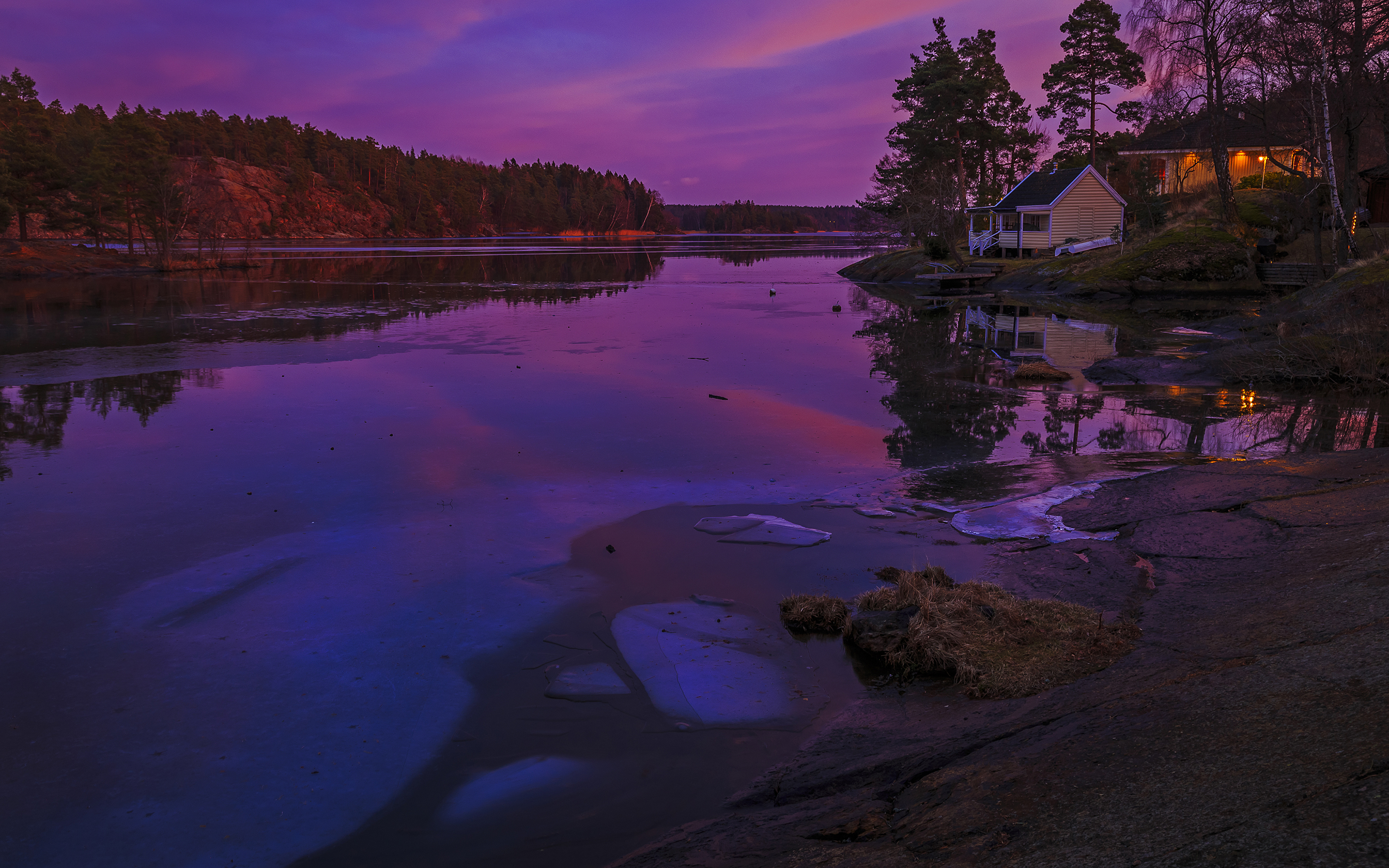 Обои месяц, финляндия. Природа foto 10