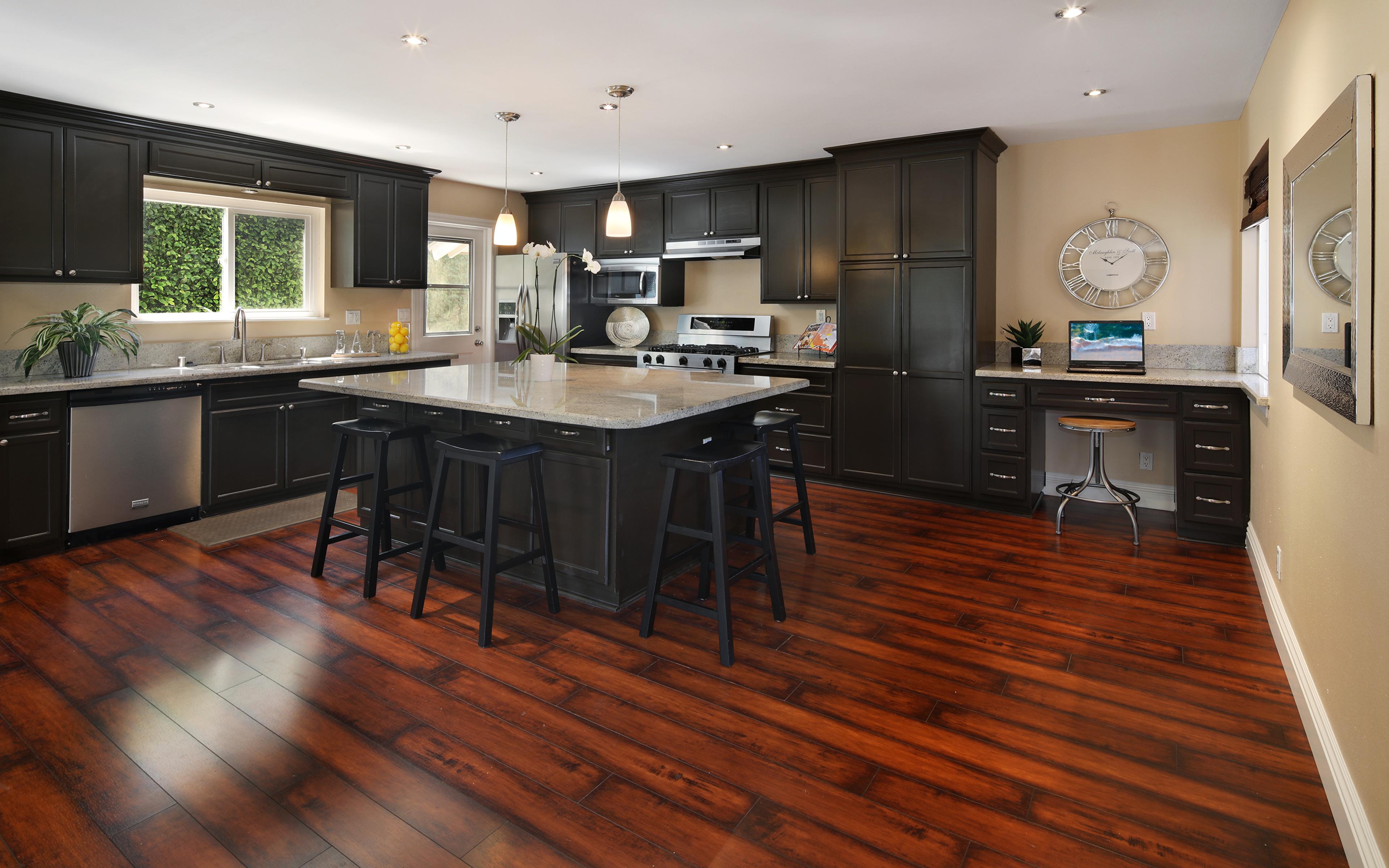 Картинки Кухня Интерьер стола Стулья Дизайн 3840x2400 кухни Стол стул столы дизайна