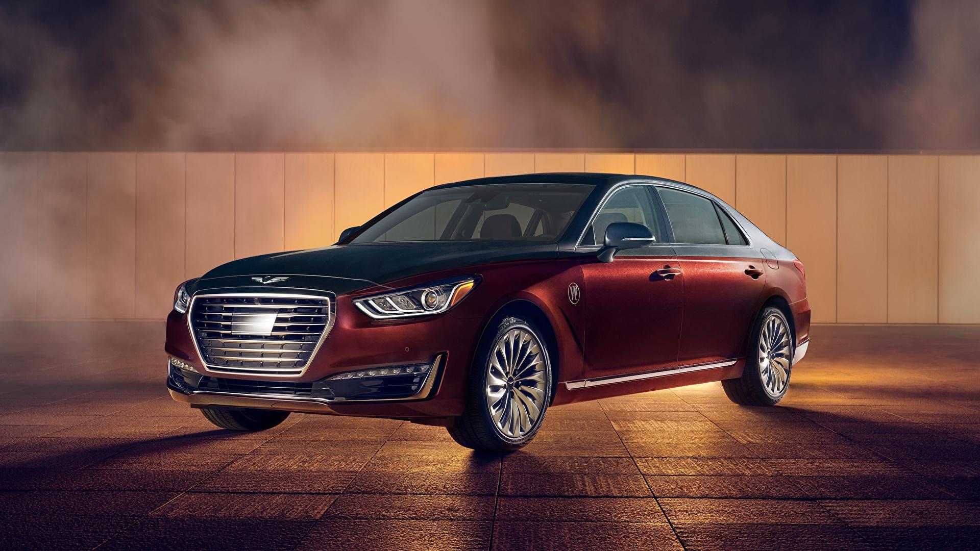 Фотографии Hyundai Genesis G90, Vanity Fair, Special Edition, US-spec, 2018 Седан авто Металлик 1920x1080 Хендай машина машины Автомобили автомобиль