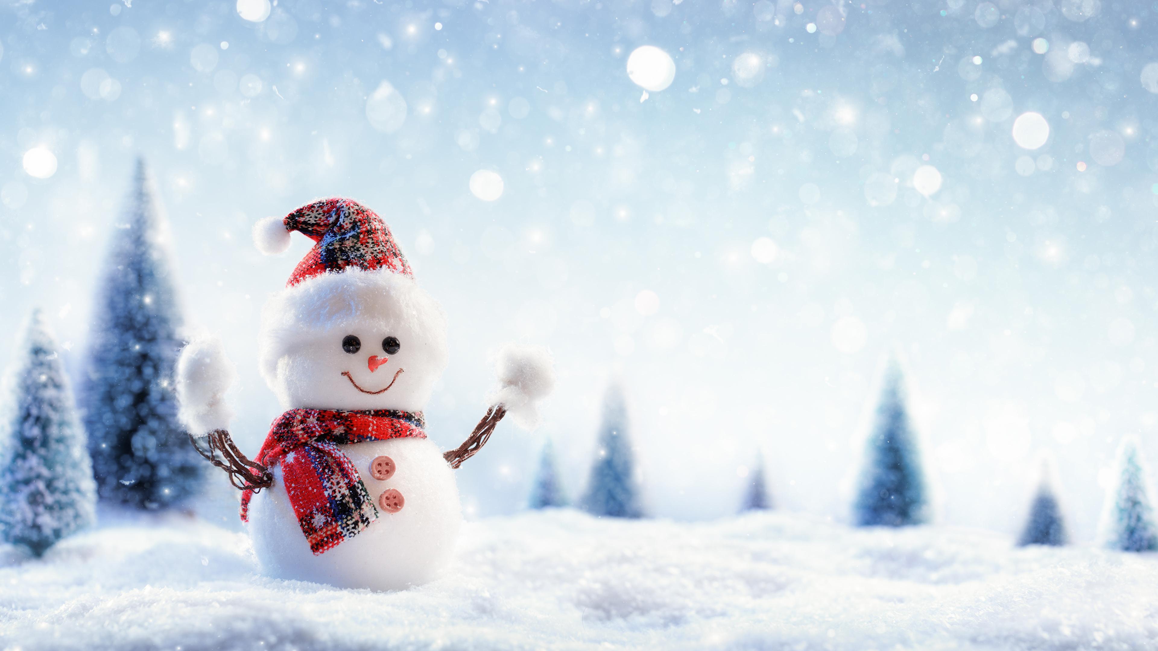 снеговик рождество улыбка снег без смс