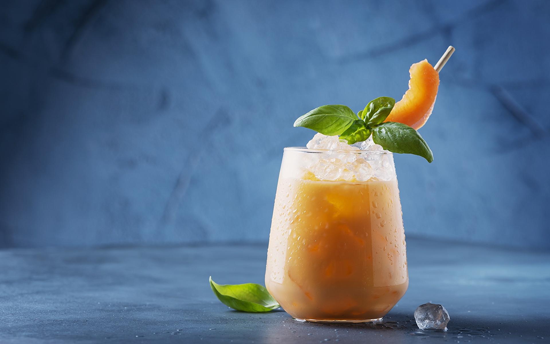 Картинка Лед Дыни мятой Стакан Продукты питания напиток 1920x1200 льда мяты Мята стакане стакана Еда Пища Напитки