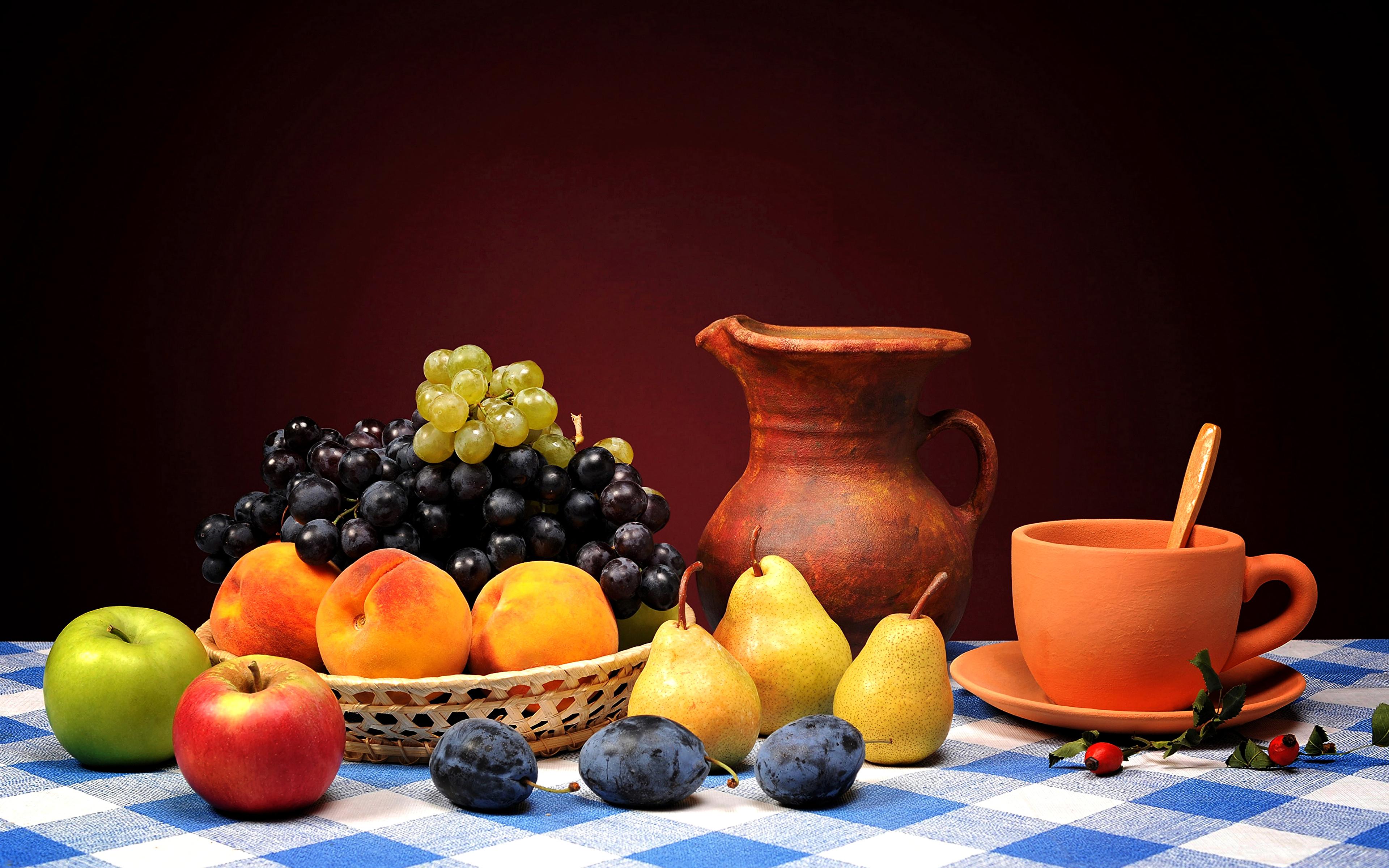 еда фрукты груша виноград корзина food fruit pear grapes basket загрузить