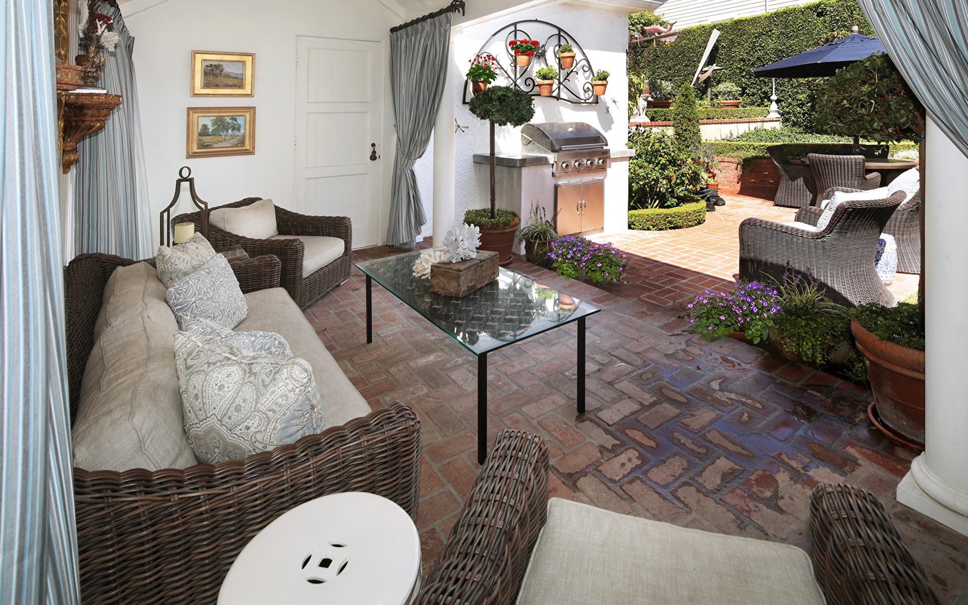 Картинка гостевая Интерьер диване Дизайн 1920x1200 Гостиная Диван дизайна