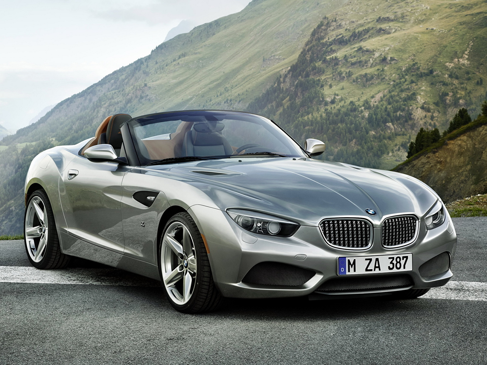 Обои для рабочего стола BMW zagato roadster Родстер авто 1600x1200 БМВ машина машины автомобиль Автомобили