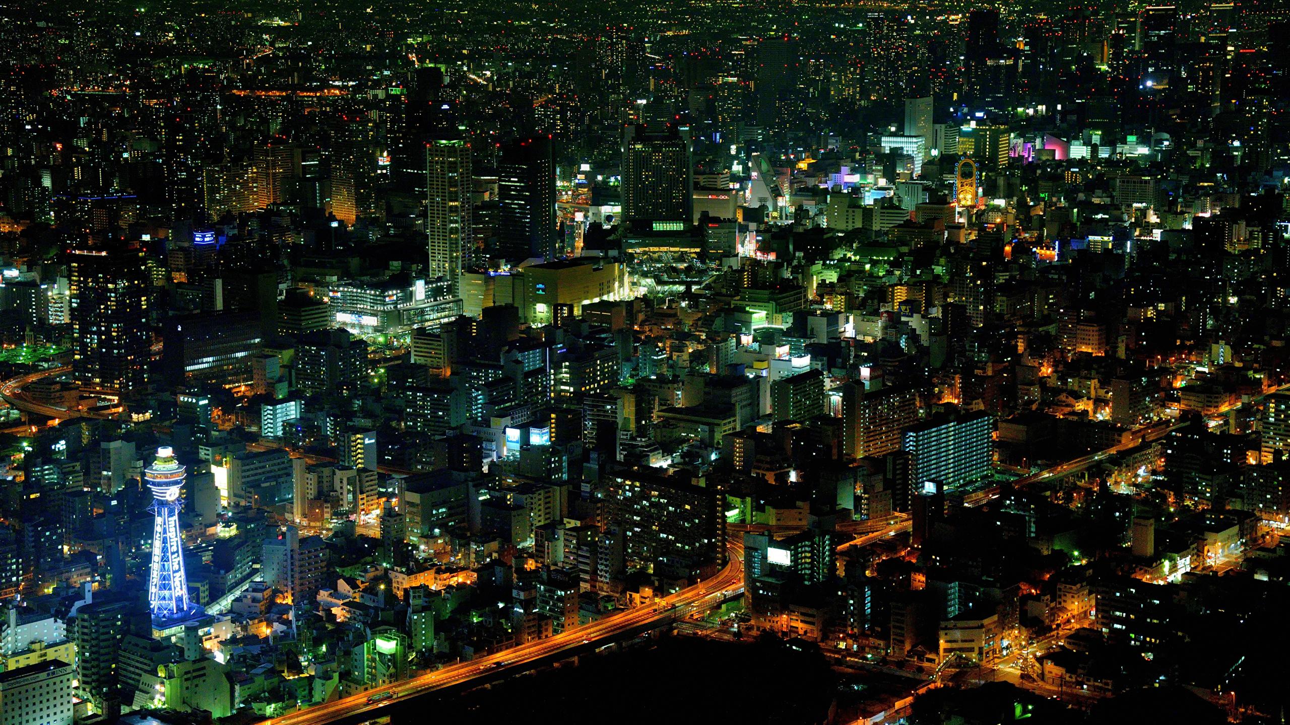 Обои Япония, ночь. Города foto 14