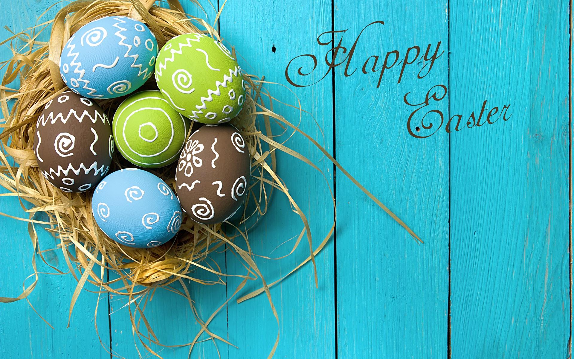 Фотография Пасха Английский яйцо Гнездо текст Доски 1920x1200 английская инглийские яиц Яйца яйцами гнезда гнезде слова Слово - Надпись