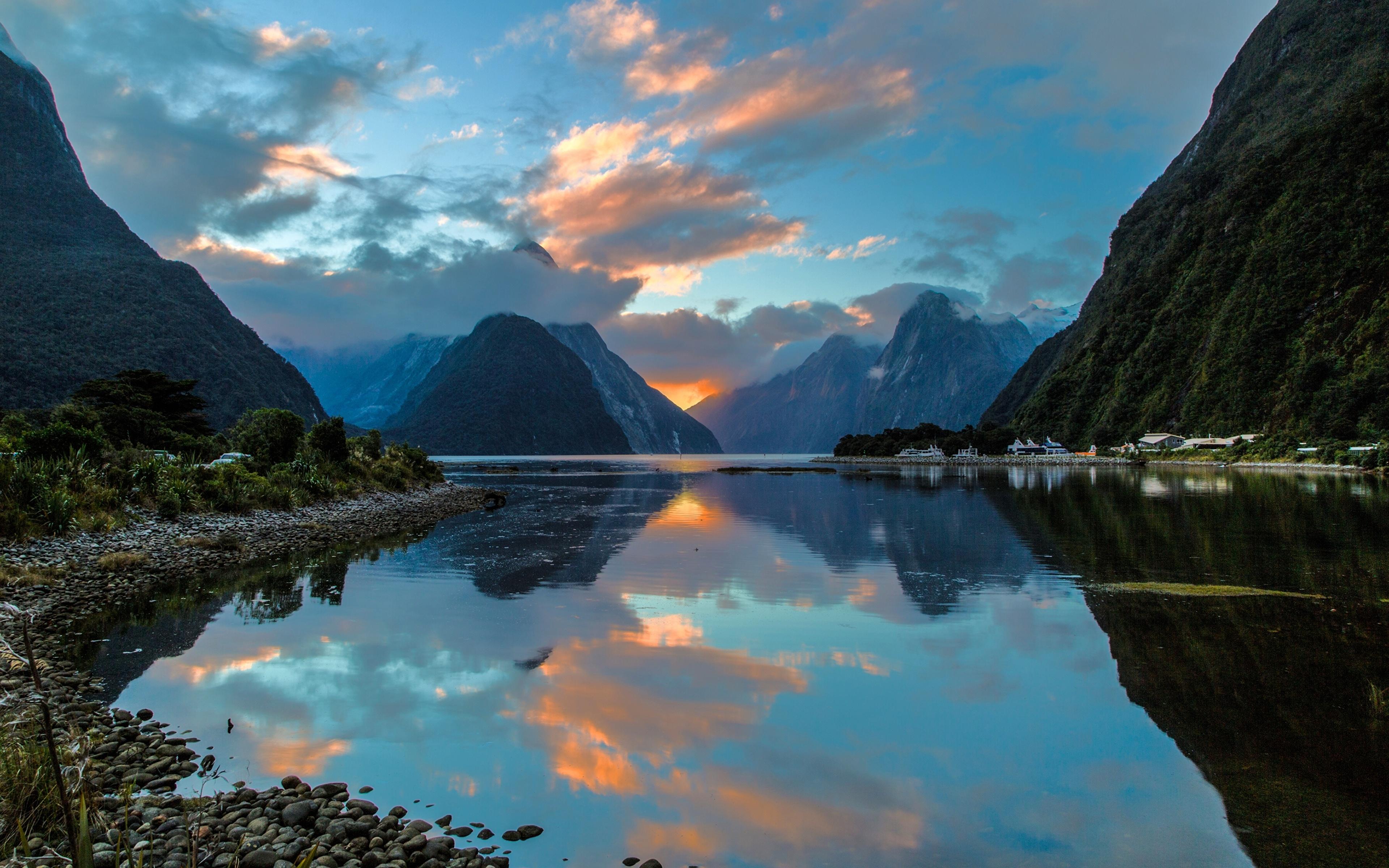 природа река Новая Зеландия бесплатно