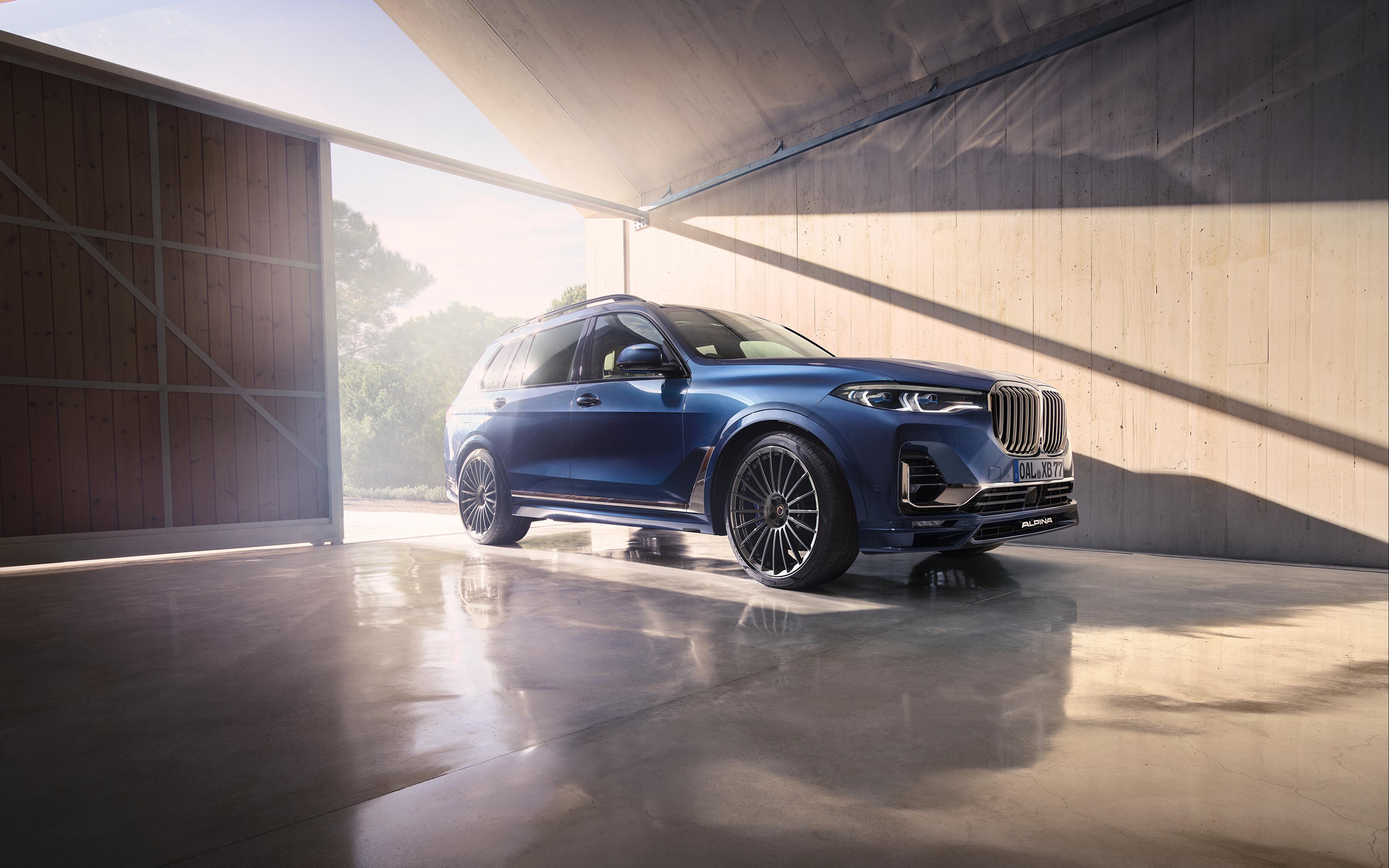 Обои для рабочего стола BMW Кроссовер 2020 Alpina XB7 Worldwide синяя Автомобили 3840x2400 БМВ CUV Синий синие синих авто машины машина автомобиль