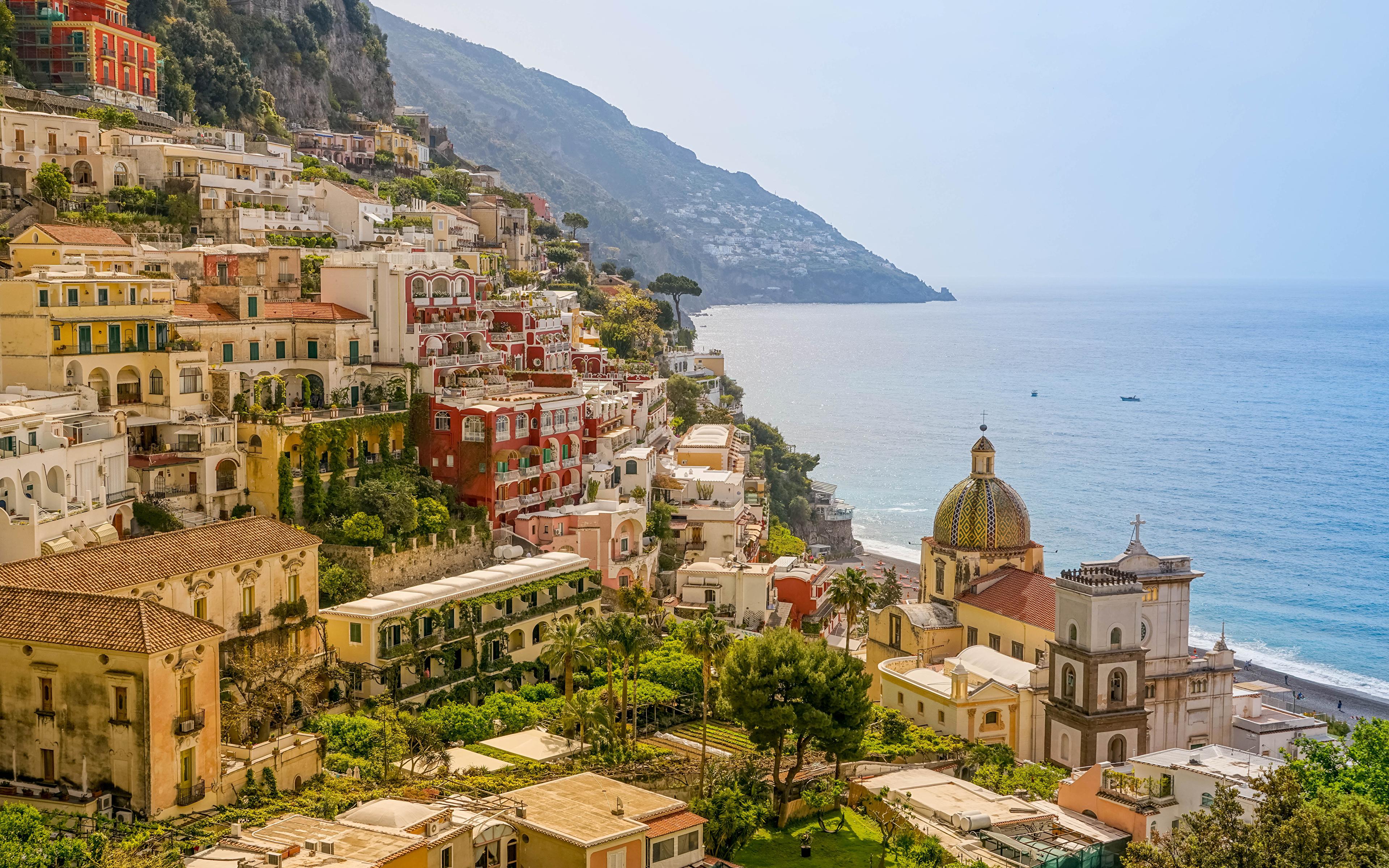 амальфи Побережье италия море горы скачать