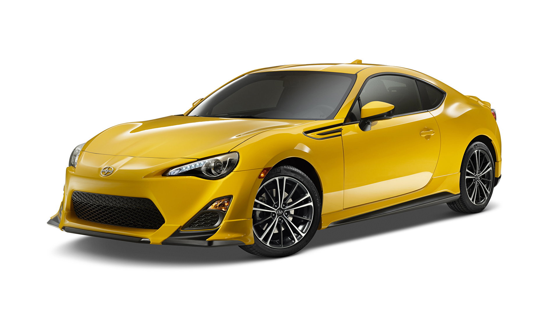 Фотография Scion 2014 FR-S Release Series 1.0 желтых машины Металлик 1920x1080 Скион Желтый желтые желтая авто машина автомобиль Автомобили