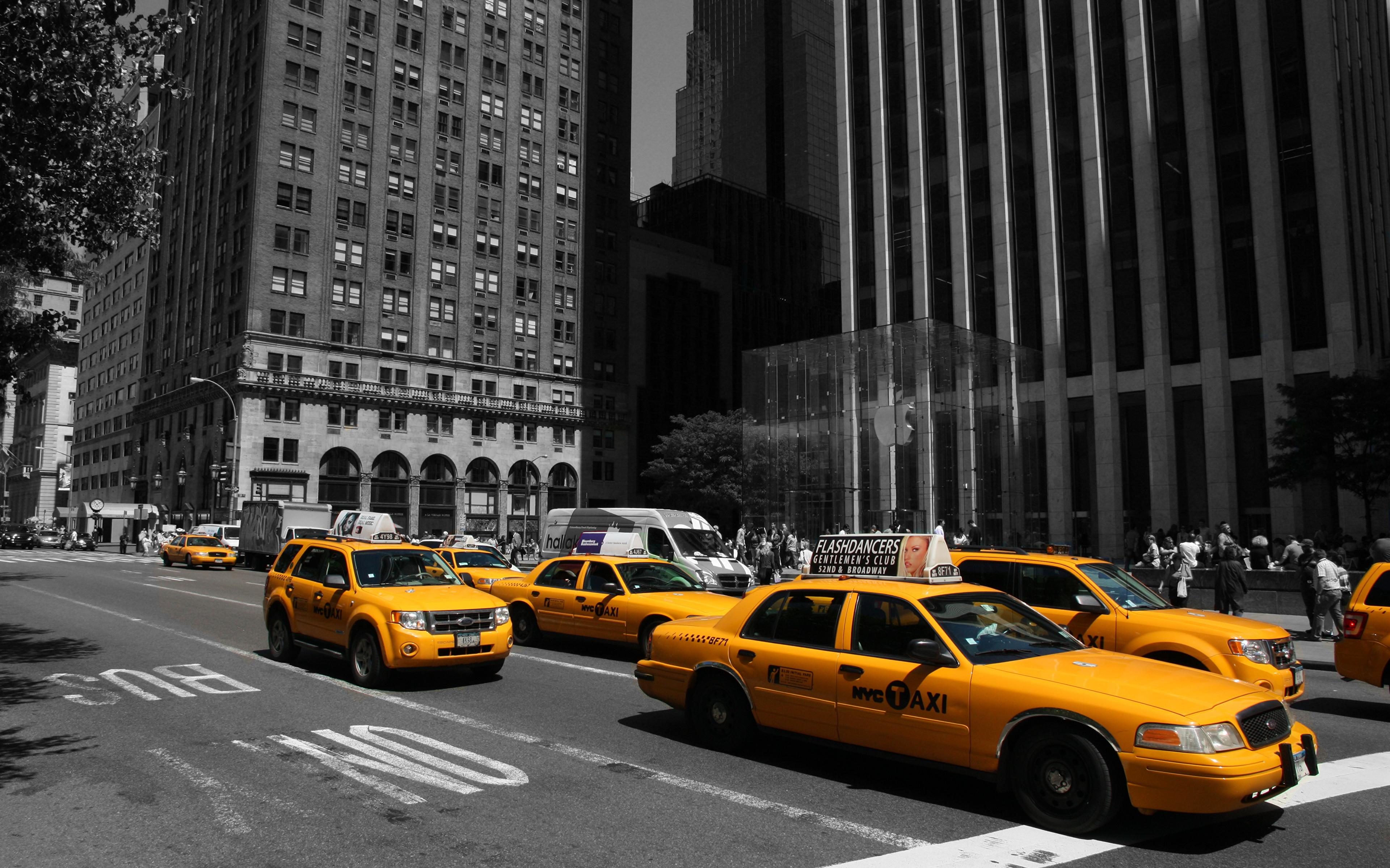 Обои такси, улица. Города foto 17