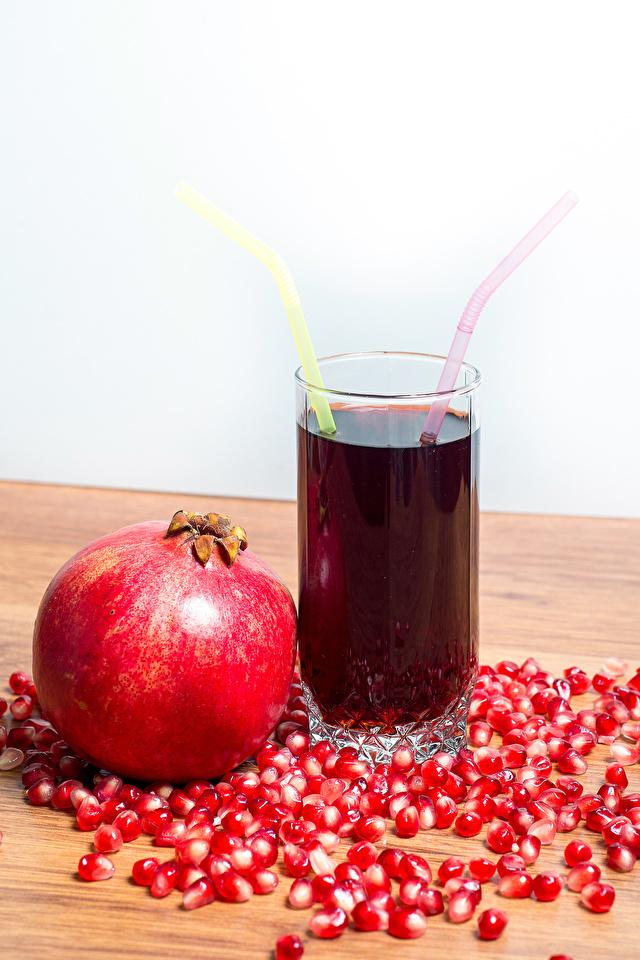 Фотография Сок Зерна Гранат стакане Пища 640x960 зерно Стакан стакана Еда Продукты питания