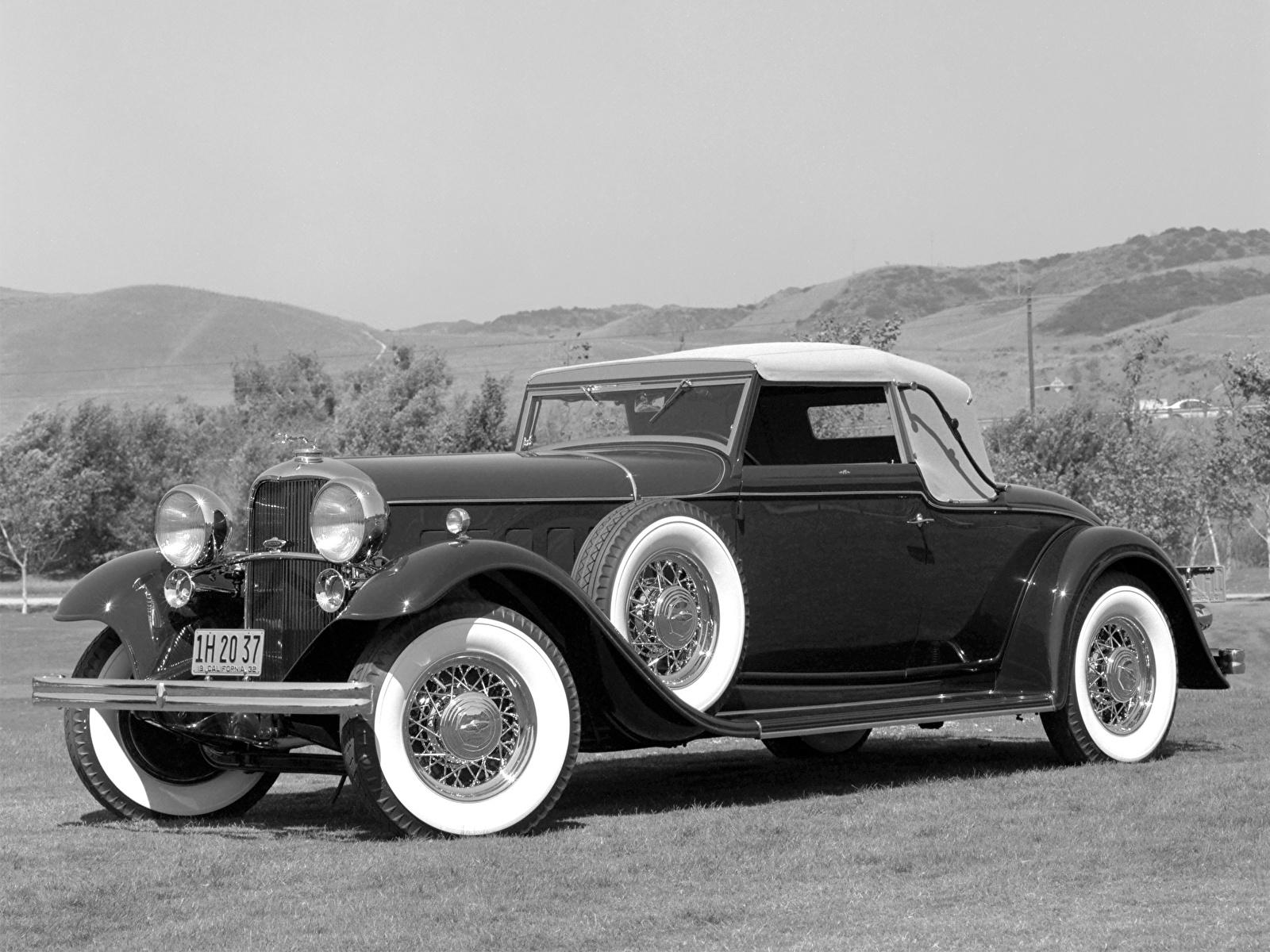 Фотографии Lincoln KB Convertible Roadster 1932 Родстер авто 1600x1200 машина машины автомобиль Автомобили