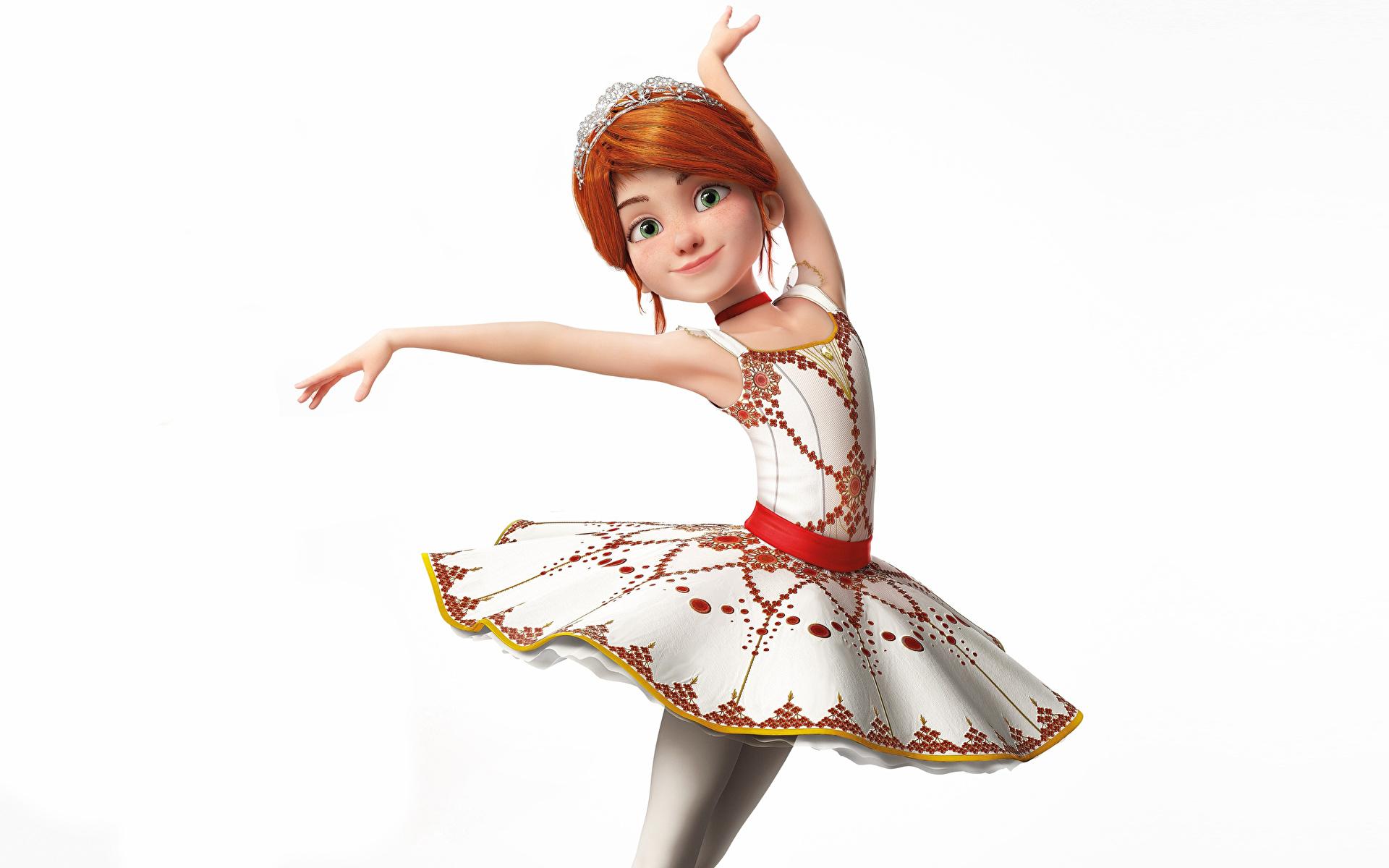 Фото Рыжая балета Balerina (Felis) позирует девушка Мультики 3D Графика Белый фон Платье 1920x1200 рыжие рыжих Балет балете Поза 3д мультик Девушки Мультфильмы молодая женщина молодые женщины белом фоне белым фоном платья