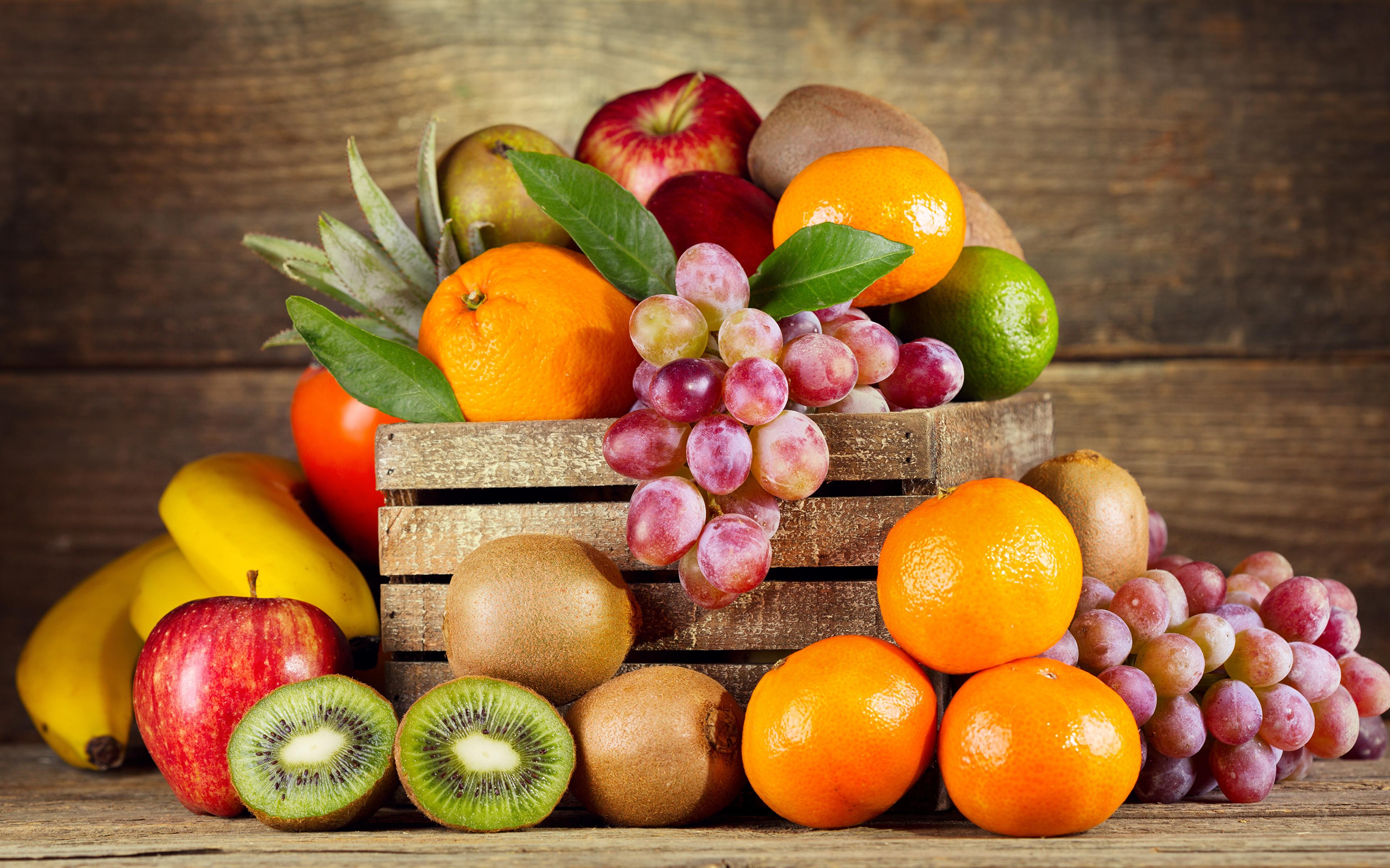 Еда фрукты корзина яблоки арбуз Food fruit basket apples watermelon скачать