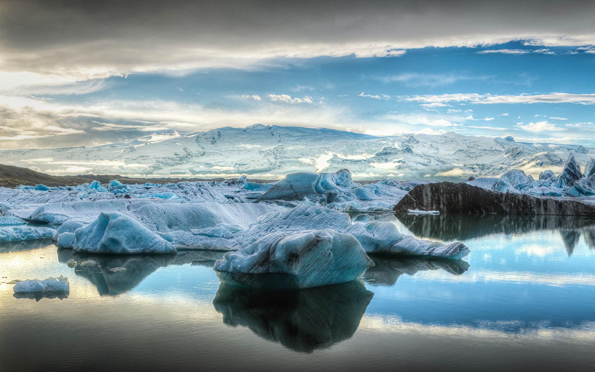 ледник природа облака горы снег лед бесплатно