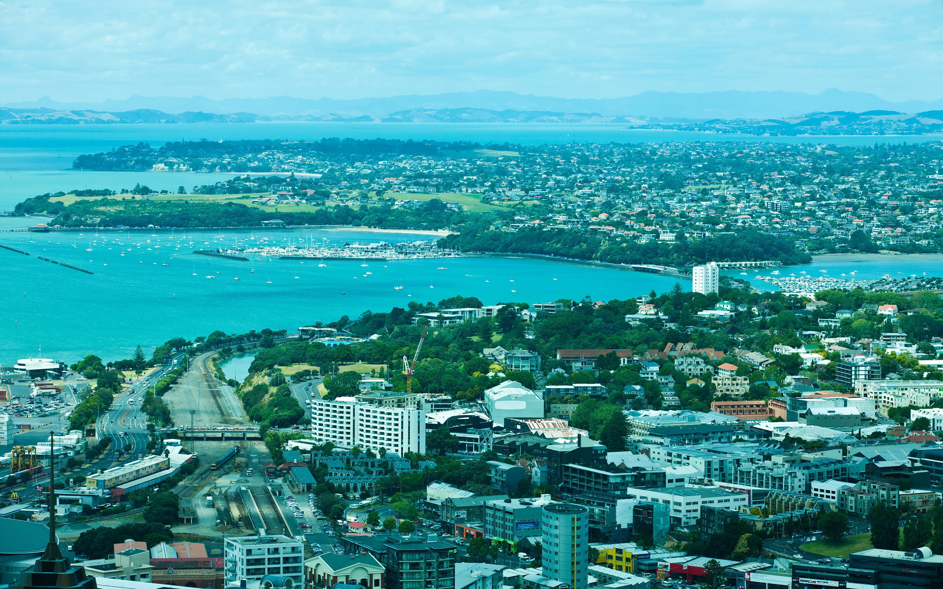 Обои сверху, новая зеландия, auckland. Города foto 7