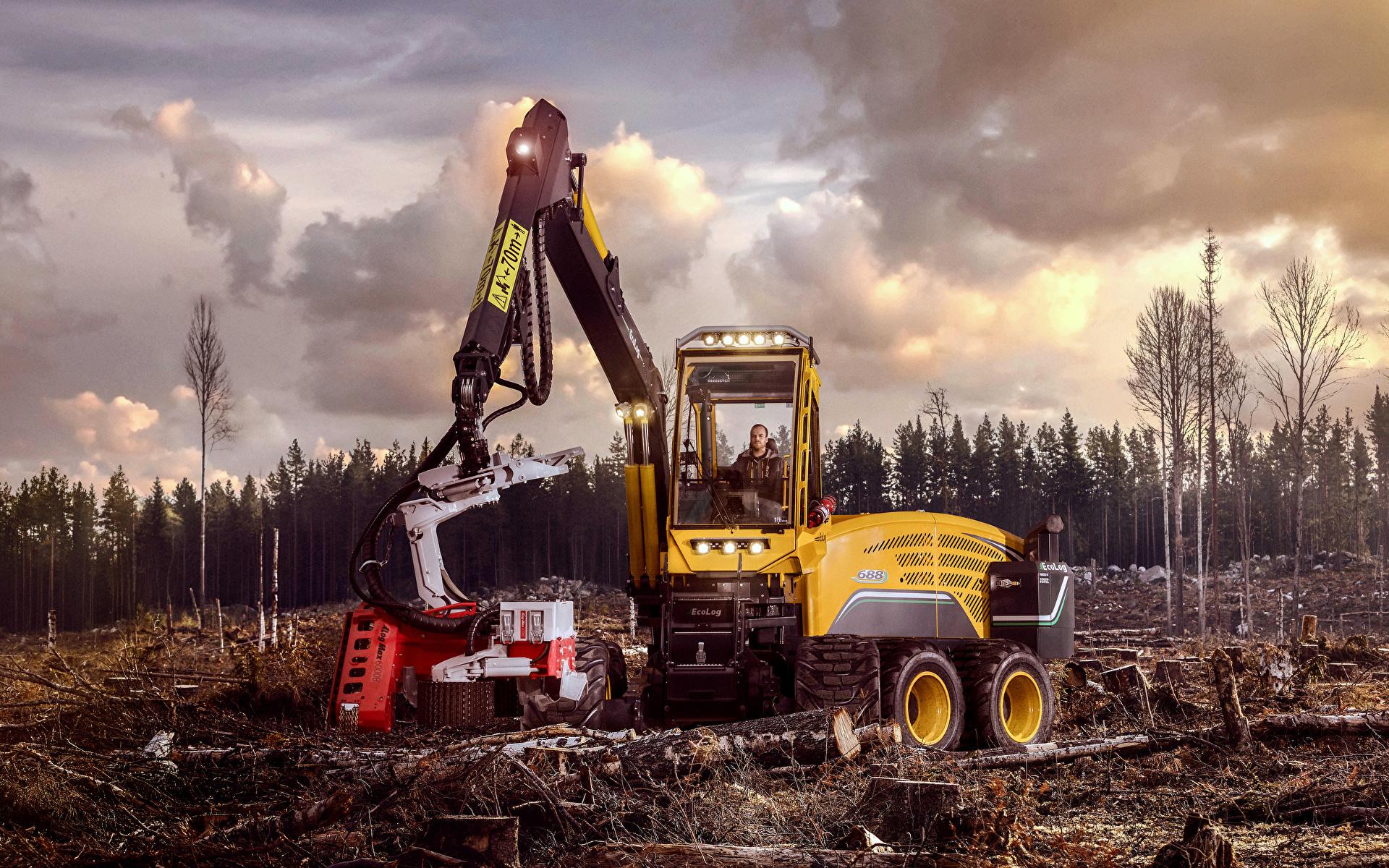 Фотографии Форвардер 2017-18 Eco Log 688E бревно 1920x1200 Бревна