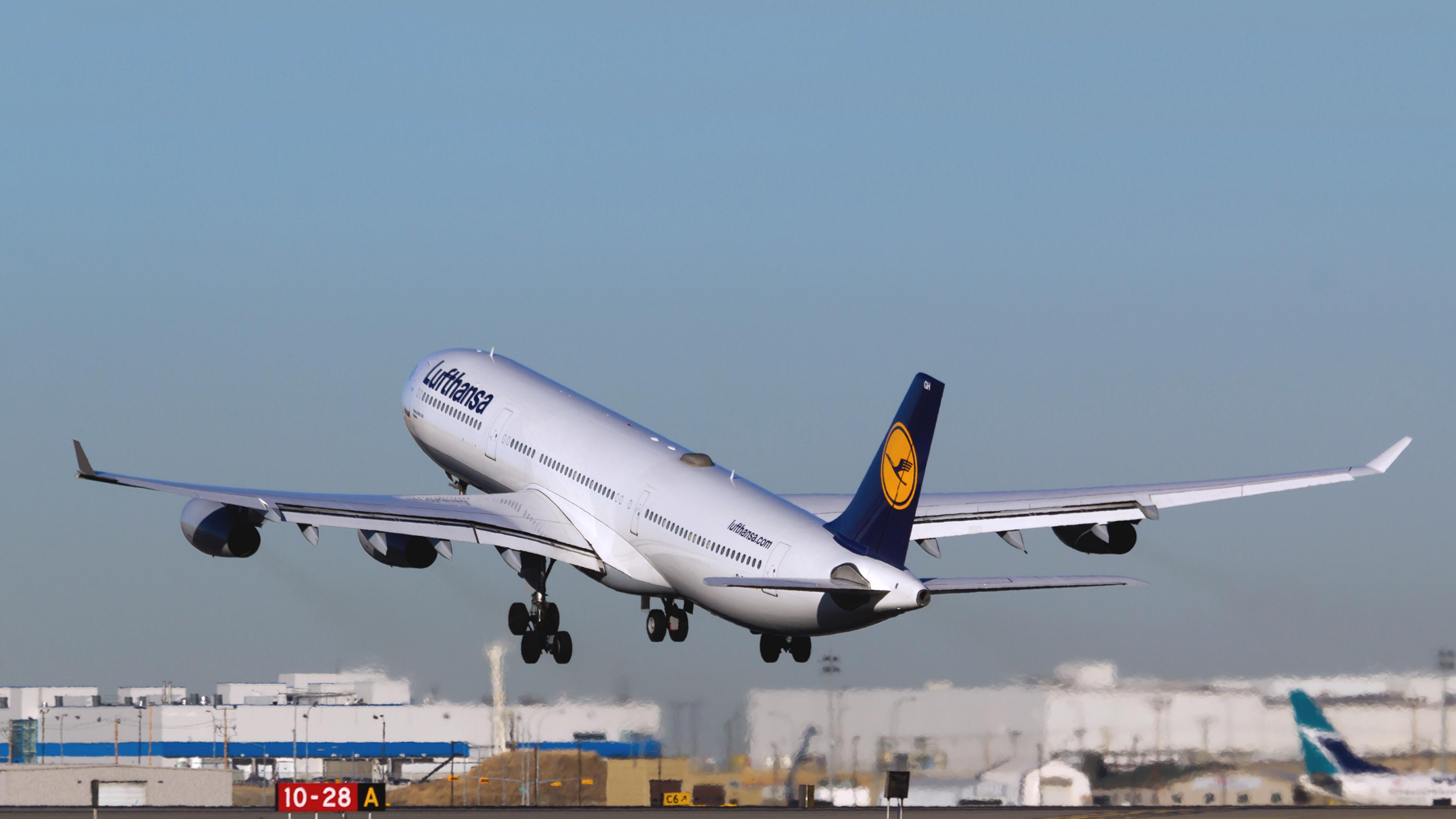 Обои Lufthansa. Авиация foto 14