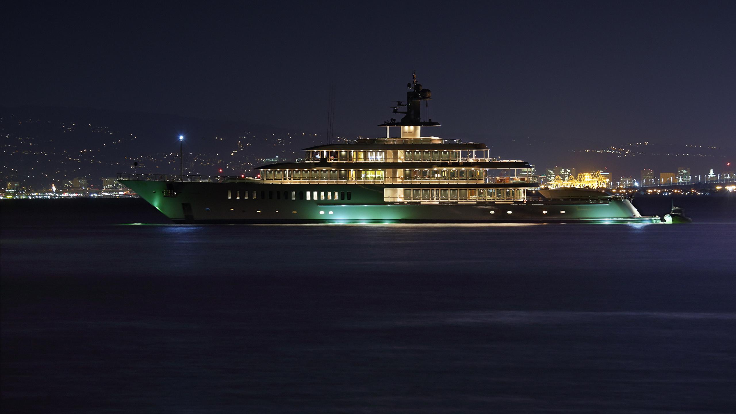 Корабль яхта подсветка загрузить