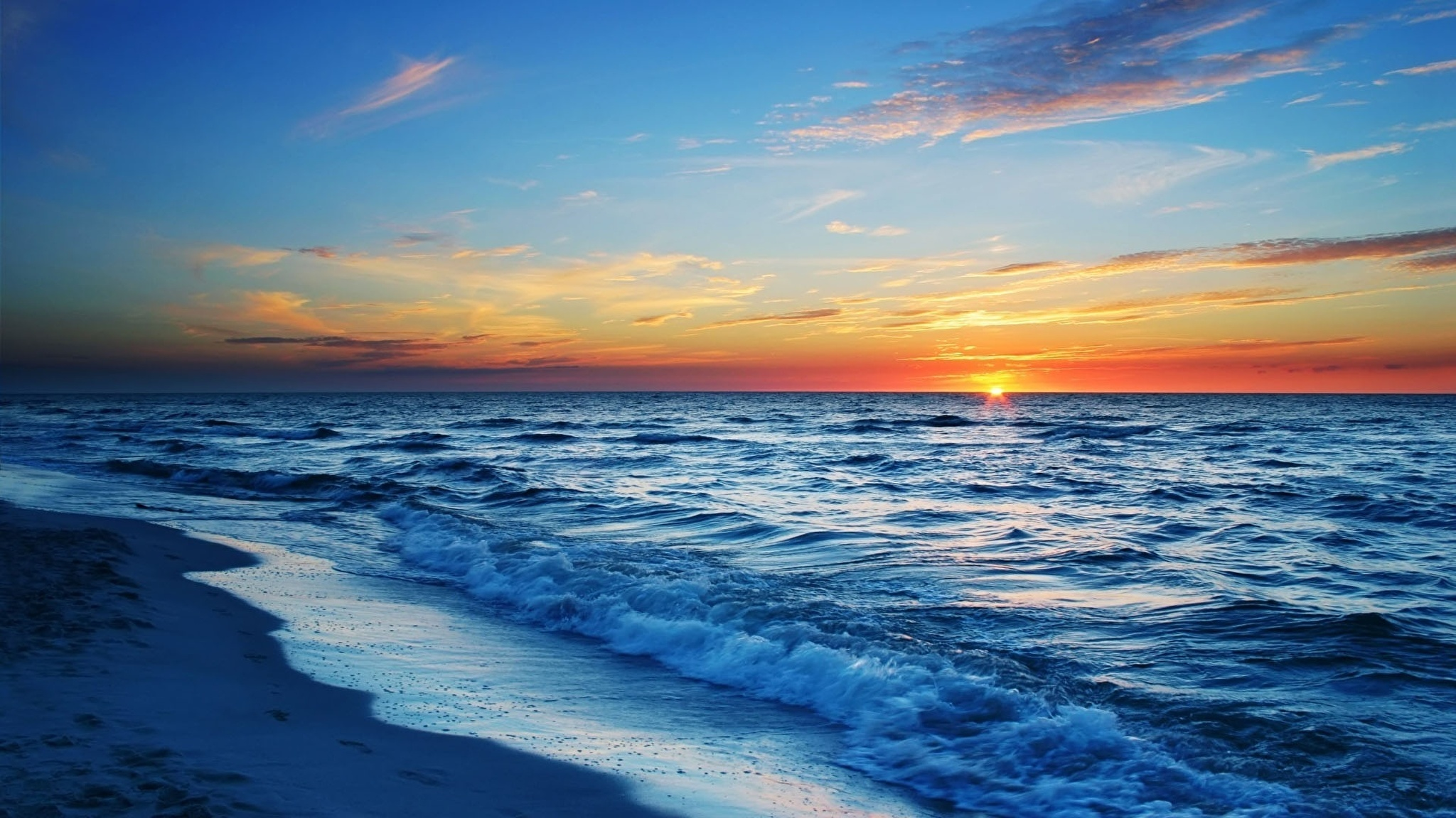 Пляж, закат, солнце, море, вода подборки