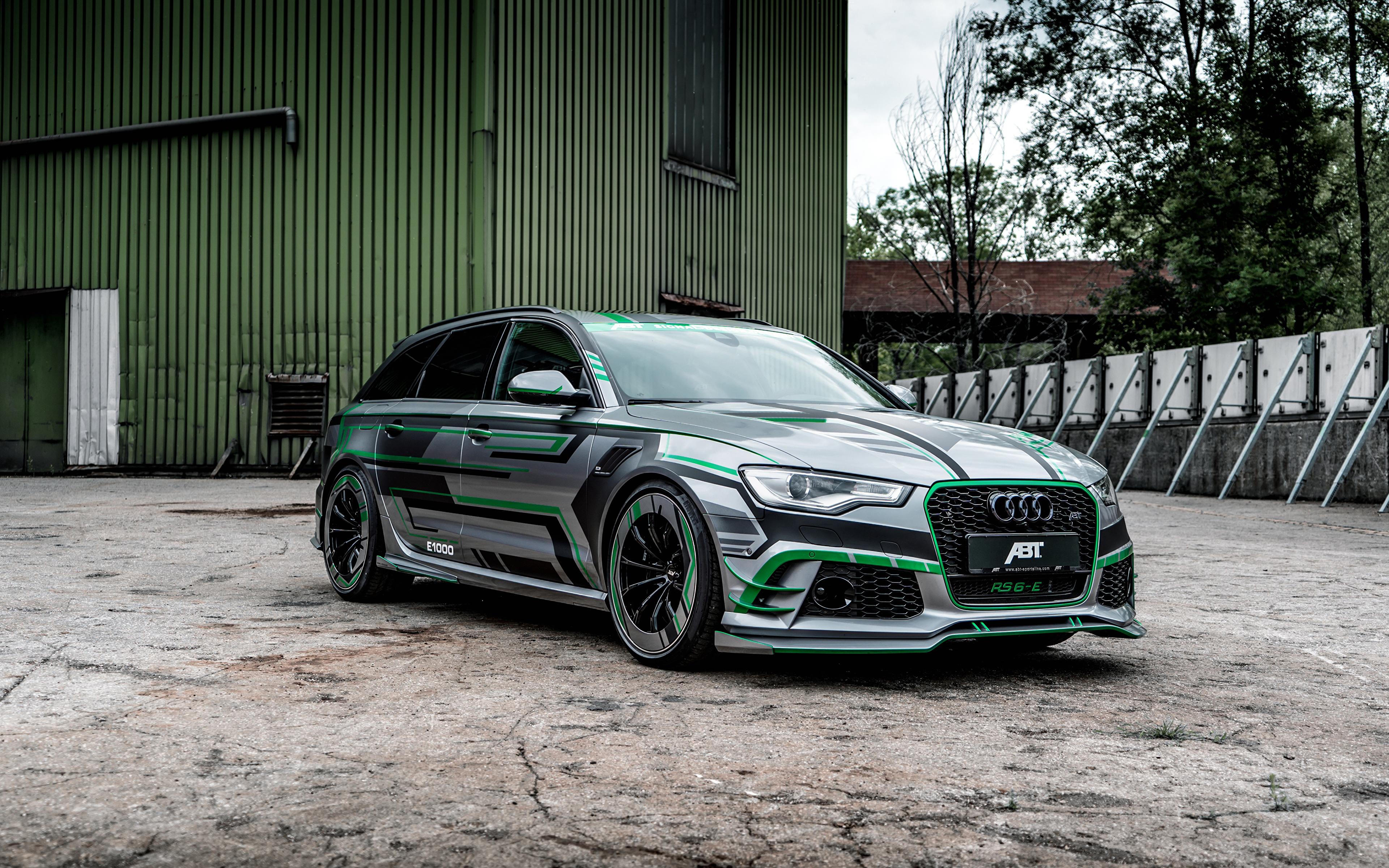Обои для рабочего стола Audi Стайлинг 2018 ABT RS 6-E Avant Concept автомобиль 3840x2400 Ауди Тюнинг авто машина машины Автомобили
