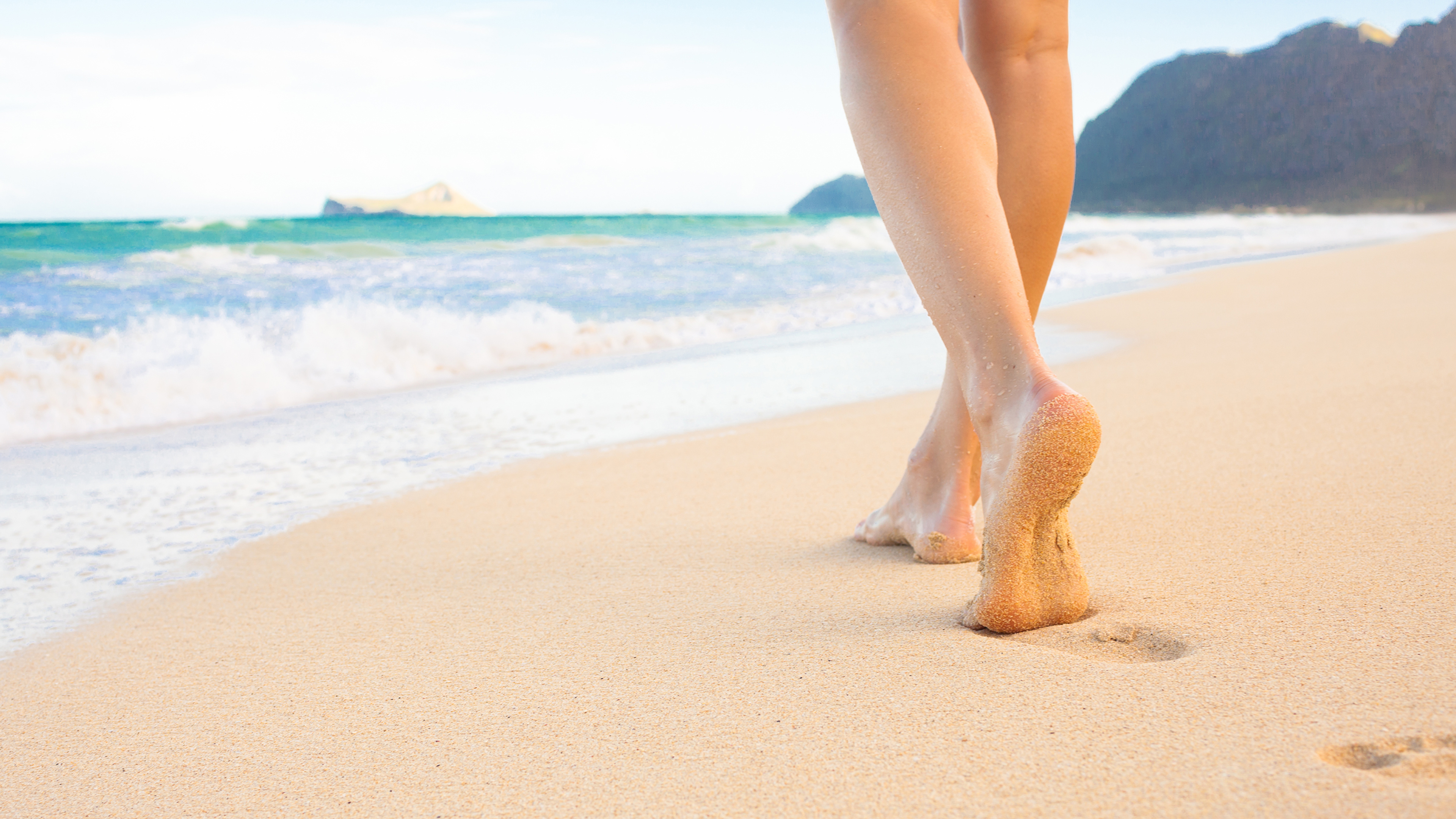 Фотографии пляжа Море Природа Ноги 3840x2160 Пляж пляже пляжи ног
