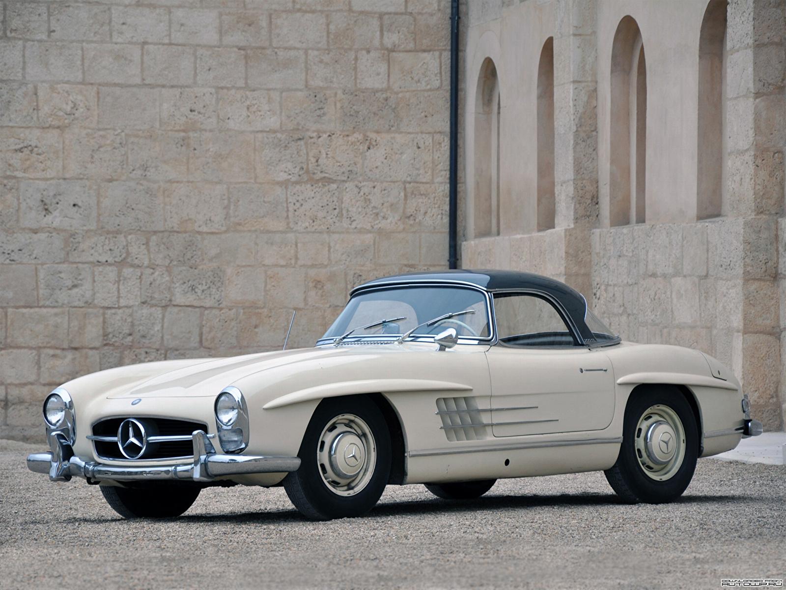 Обои для рабочего стола Mercedes-Benz 300SL Roadster US spec [R198] 1957–63 Родстер авто 1600x1200 Мерседес бенц машина машины автомобиль Автомобили