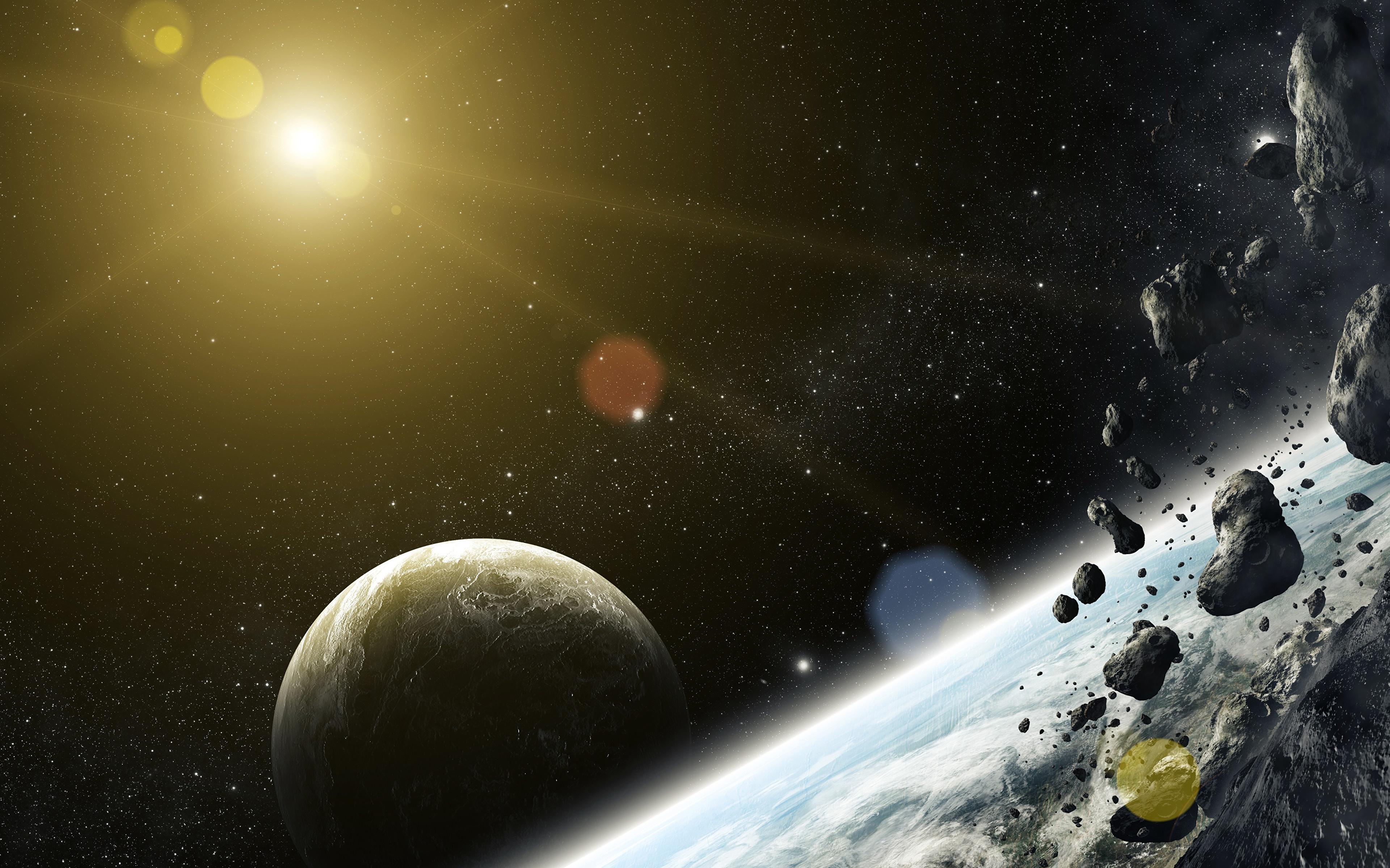 Обои космос планета метеор картинки на рабочий стол на тему Космос - скачать загрузить