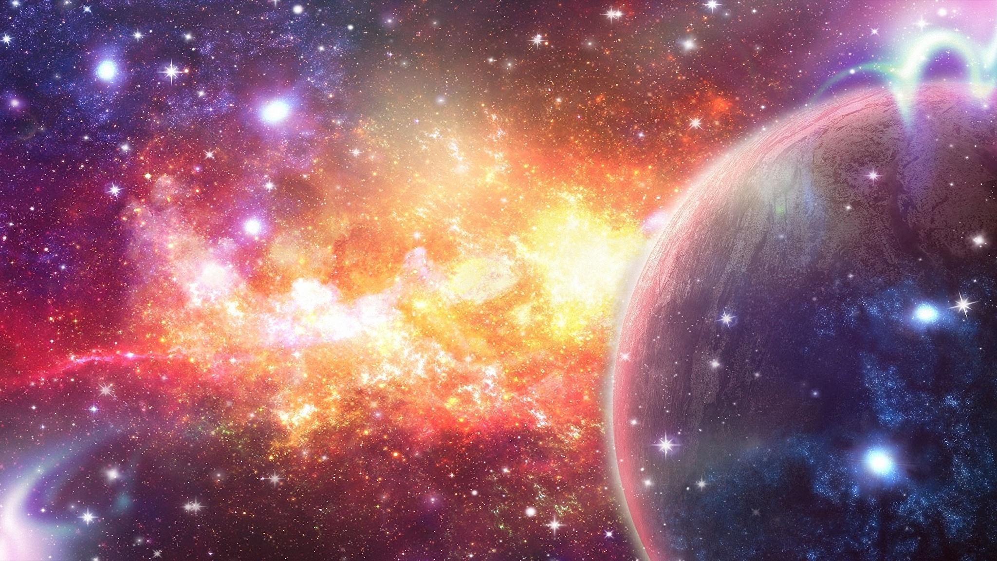 Обои планета космос звезды картинки на рабочий стол на тему Космос — скачать в хорошем качестве