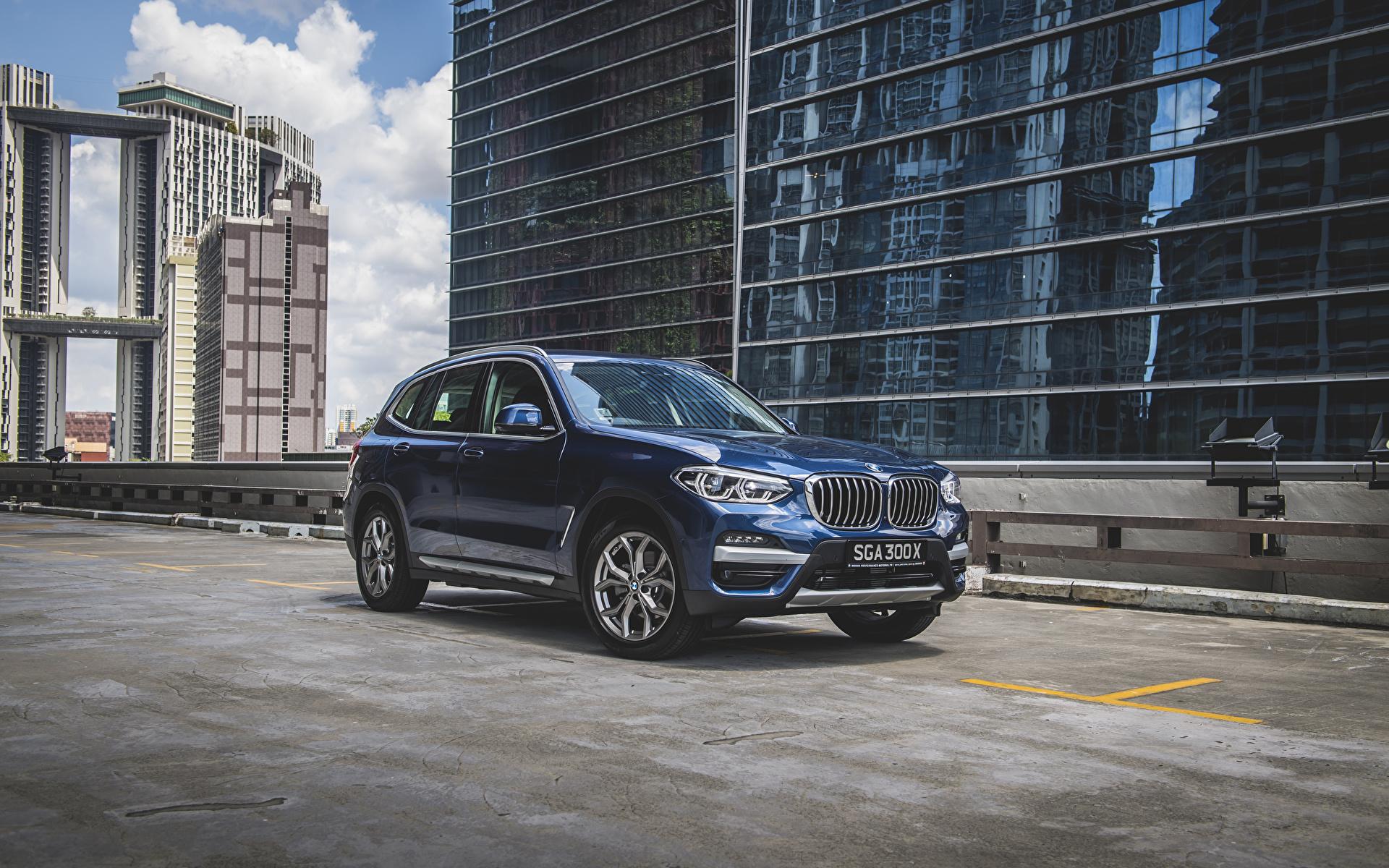 Фотография БМВ Кроссовер 2020 X3 xDrive30e xLine Синий Металлик Автомобили 1920x1200 BMW CUV синяя синие синих авто машины машина автомобиль