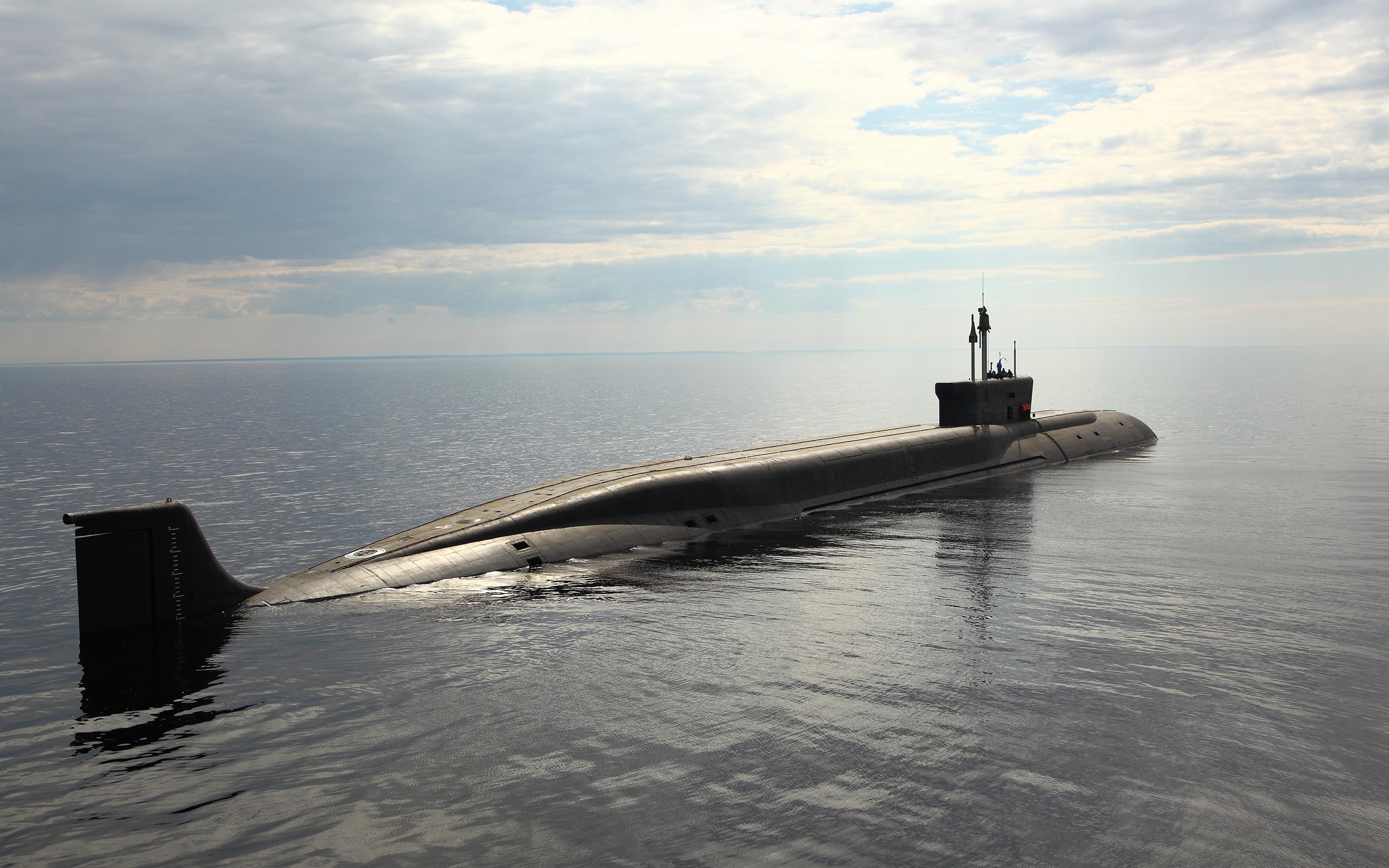 Фото Подводные лодки 955 Море военные 3840x2400 Армия