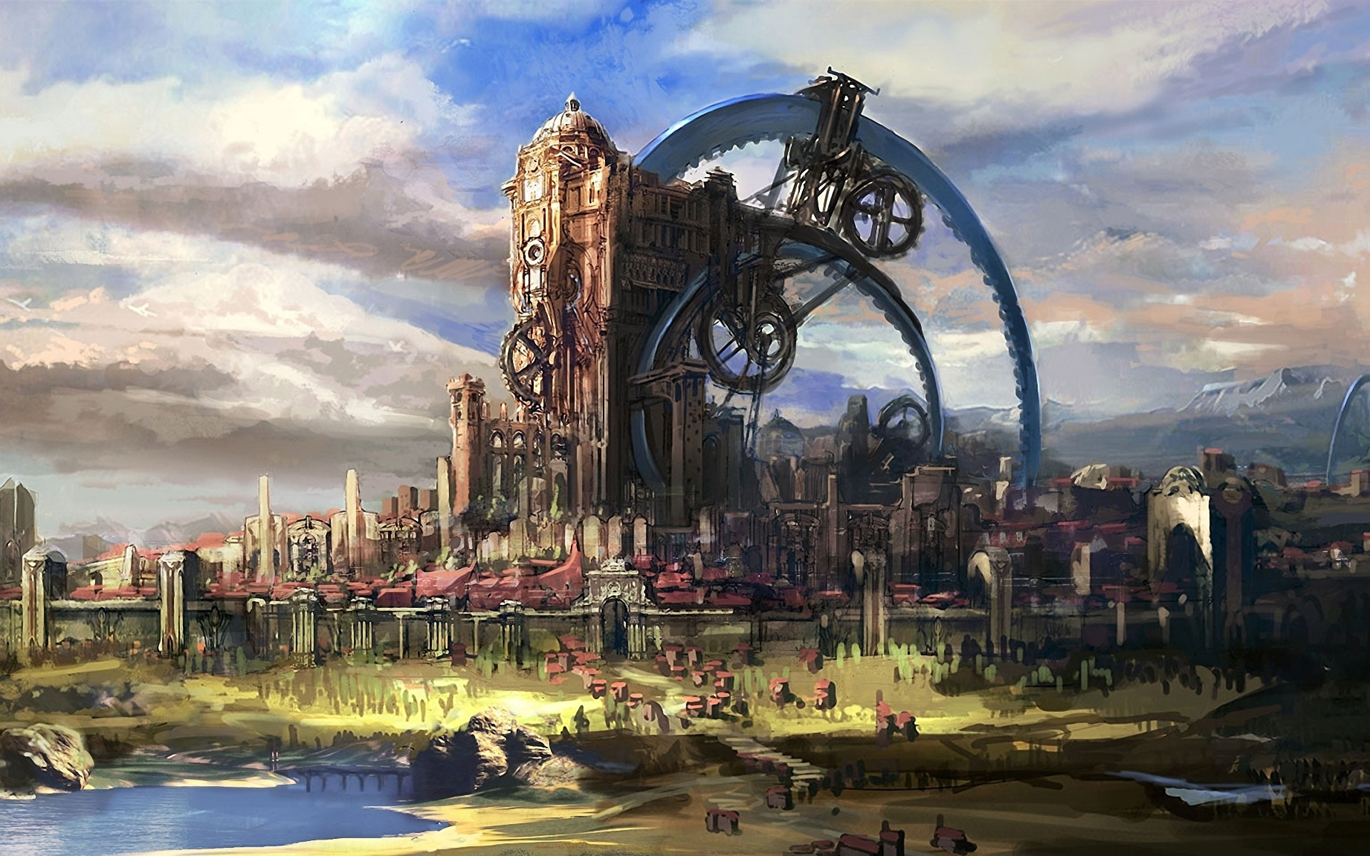 steampunk city names - HD 2048×1152