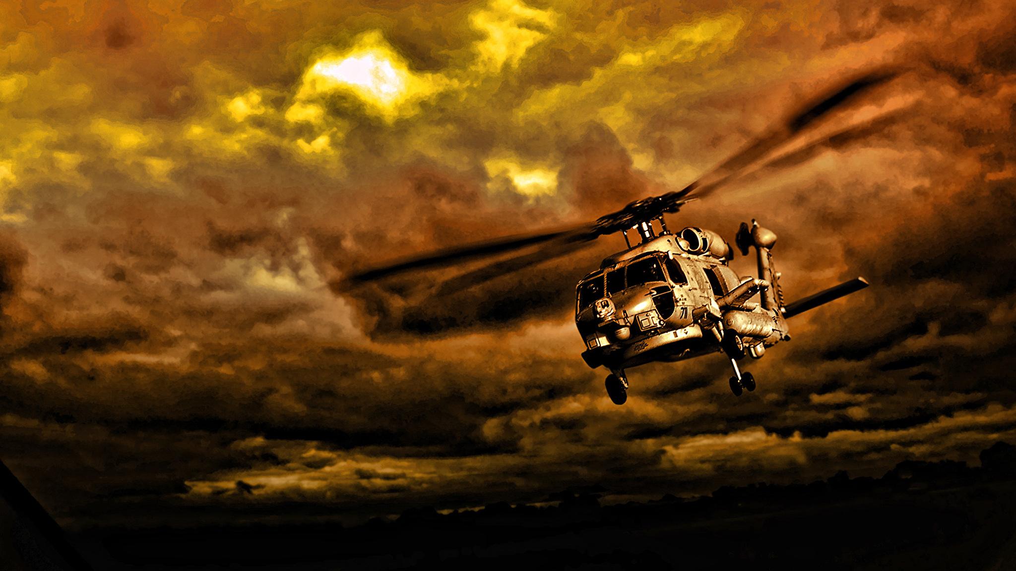 вертолет под звездным небом бесплатно