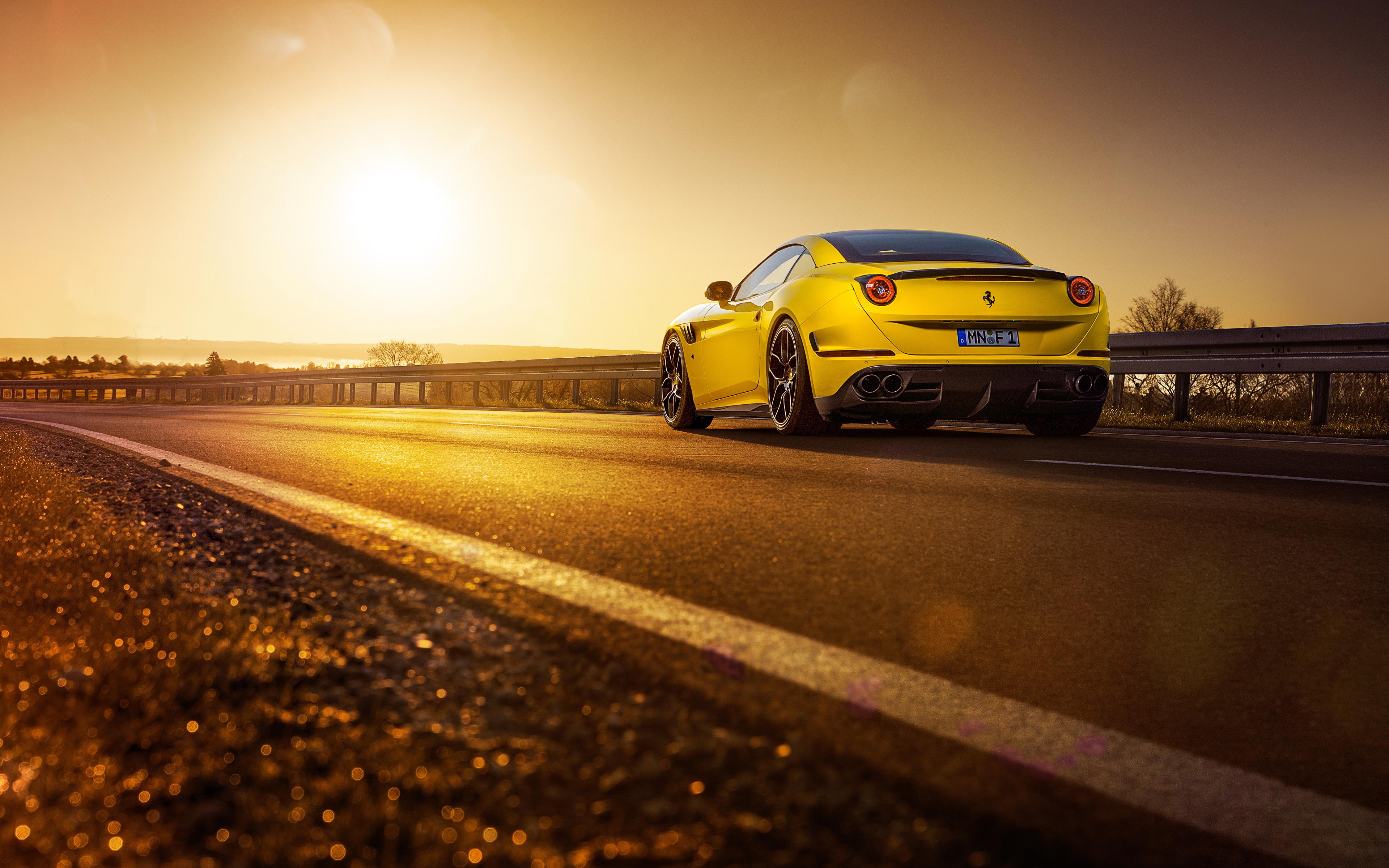 Ferrari 330 ретро дорога закат бесплатно