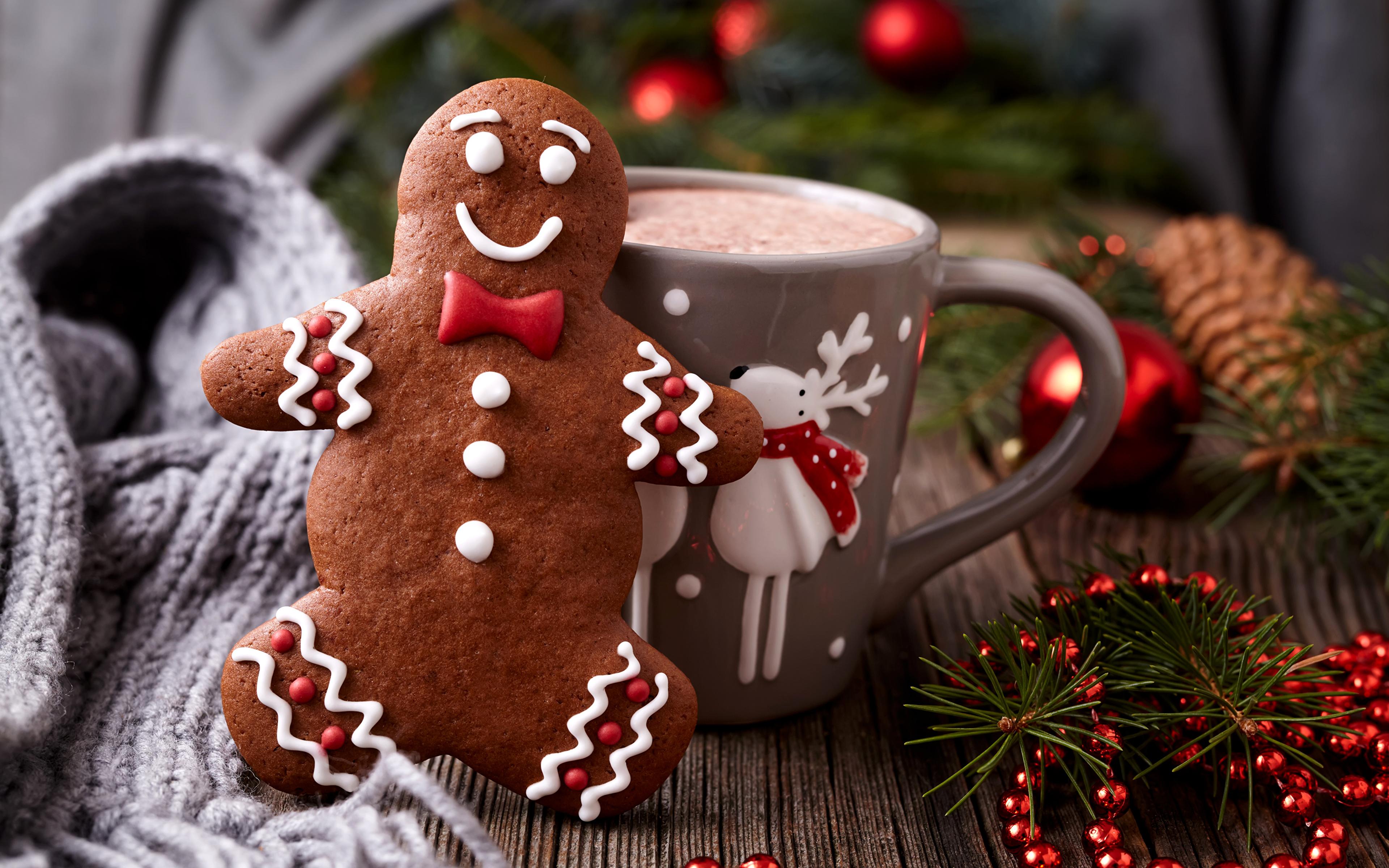 Печенье новогоднее с какао