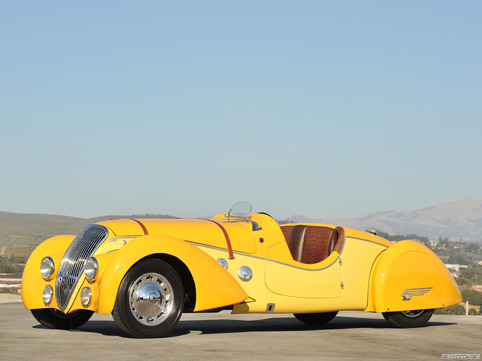 Картинки Peugeot Darlmat 402 Pourtout Roadster 1938 Родстер Автомобили 1600x1200 Пежо авто машина машины автомобиль